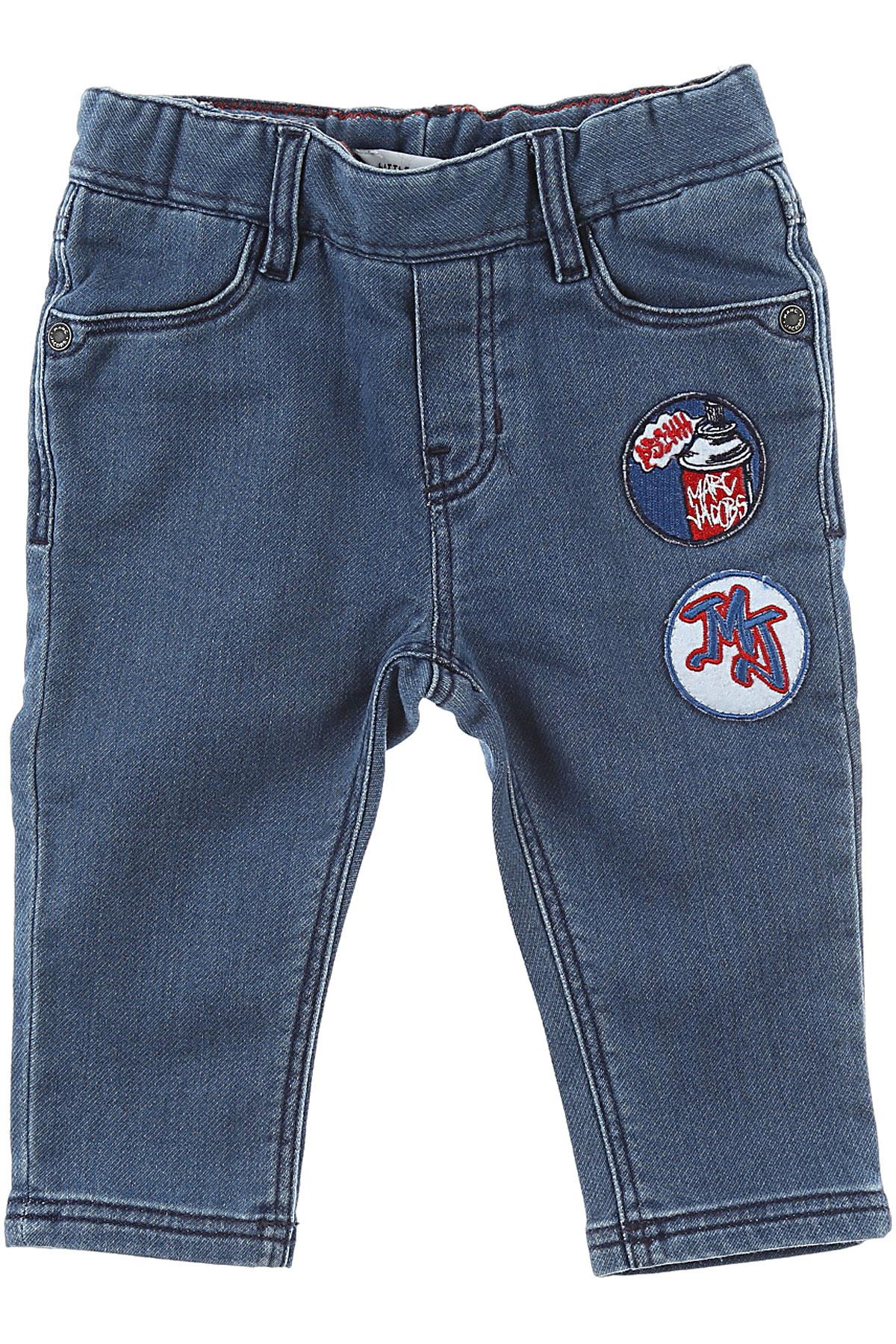 Image of Marc Jacobs Baby Jeans for Boys, Blue Denim, Cotton, 2017, 12M 18M 2Y 3Y 6M 9M