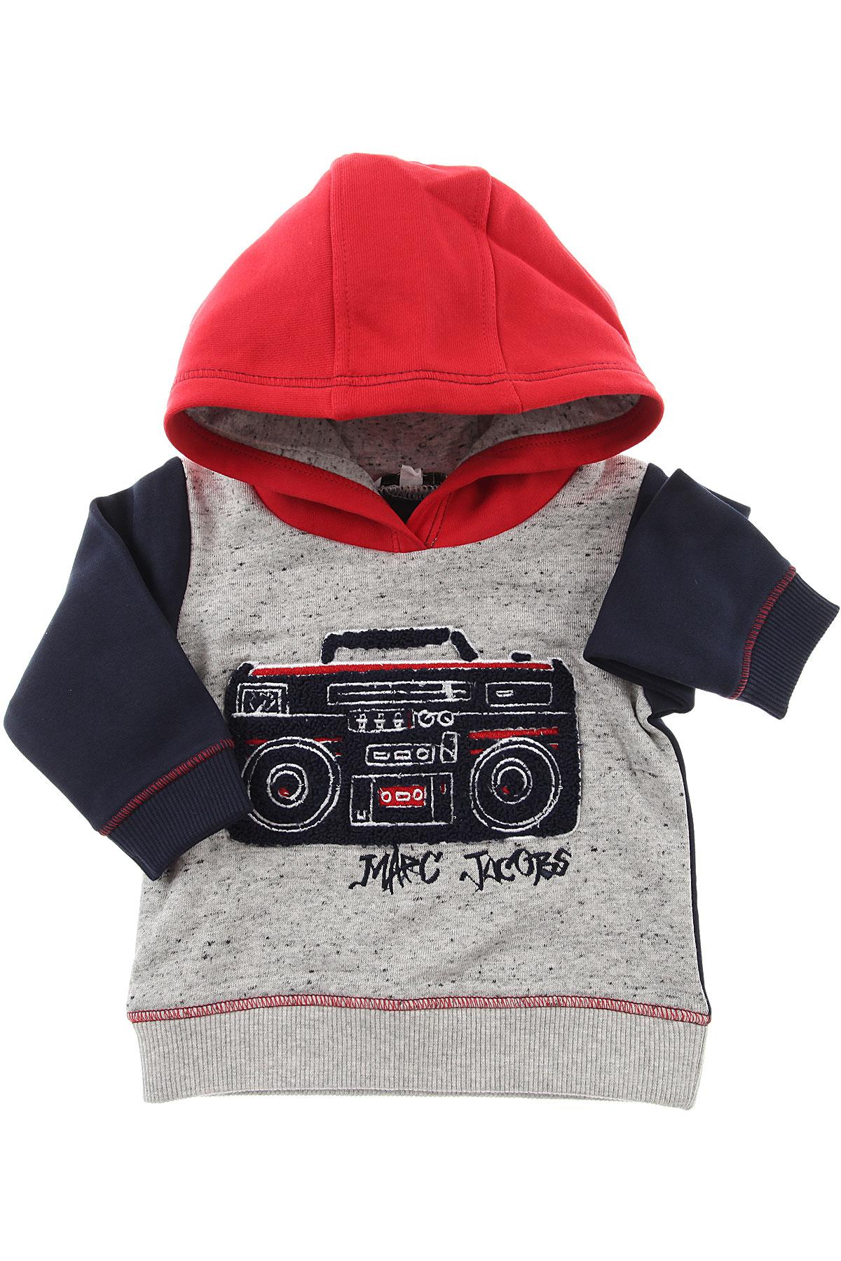 Image of Marc Jacobs Baby Sweatshirts & Hoodies for Boys, Grey, Cotton, 2017, 12M 2Y 3Y 6M 9M