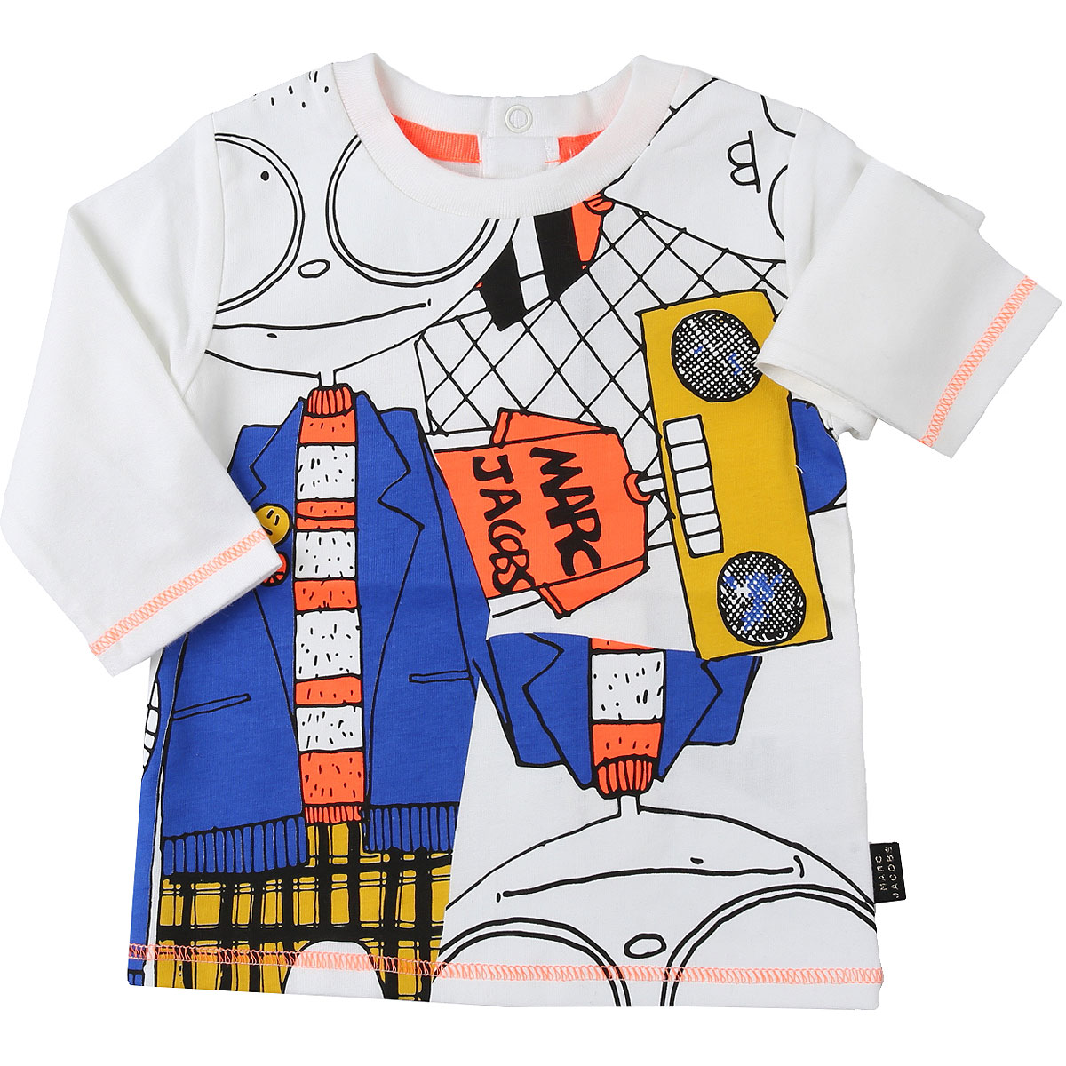 Marc Jacobs Baby T-Shirt for Boys On Sale, White, Cotton, 2019, 12 M 18M 6M 9M