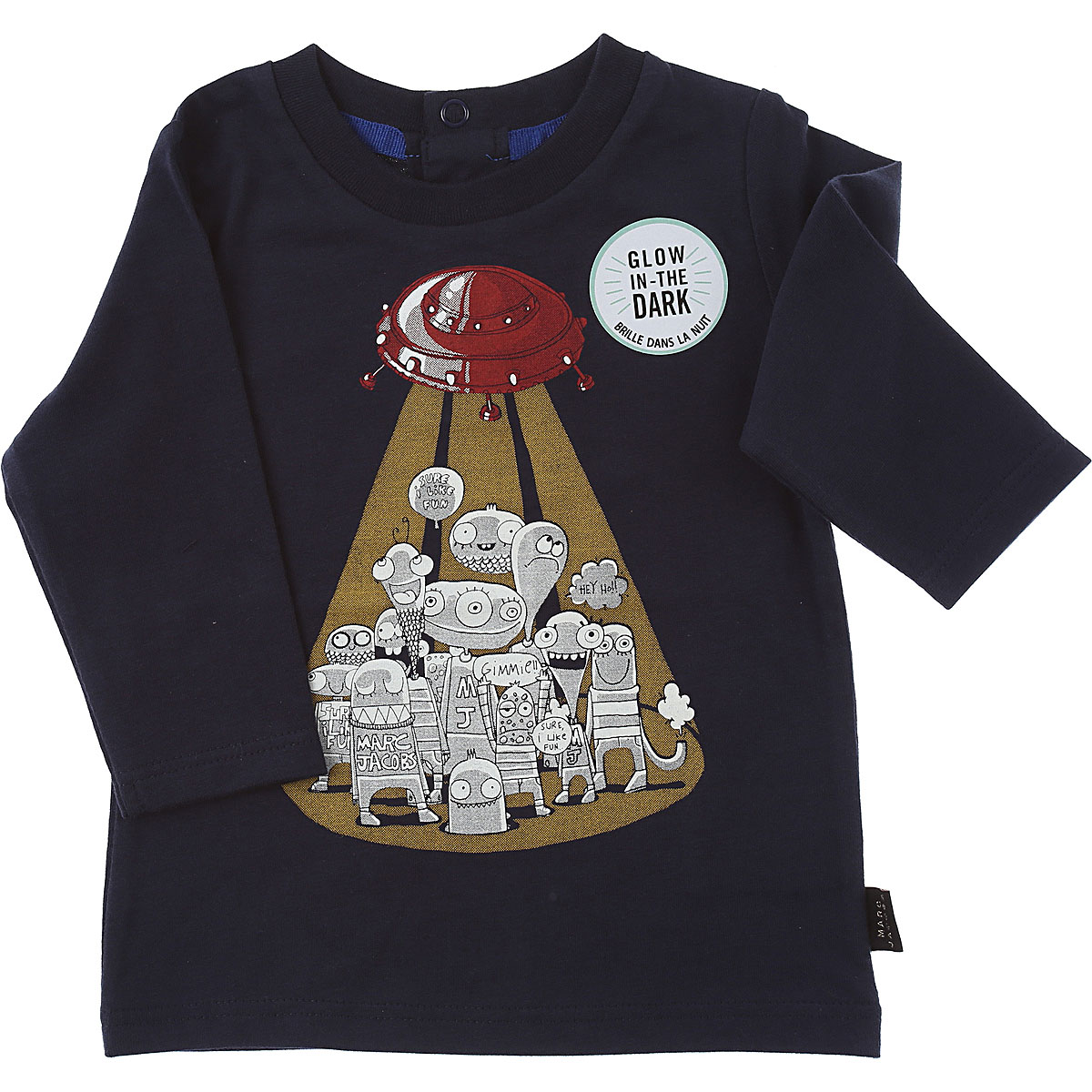 Marc Jacobs Baby T-Shirt for Boys On Sale, Navy Blue, Cotton, 2019, 12 M 18M 2Y 3Y 6M 9M