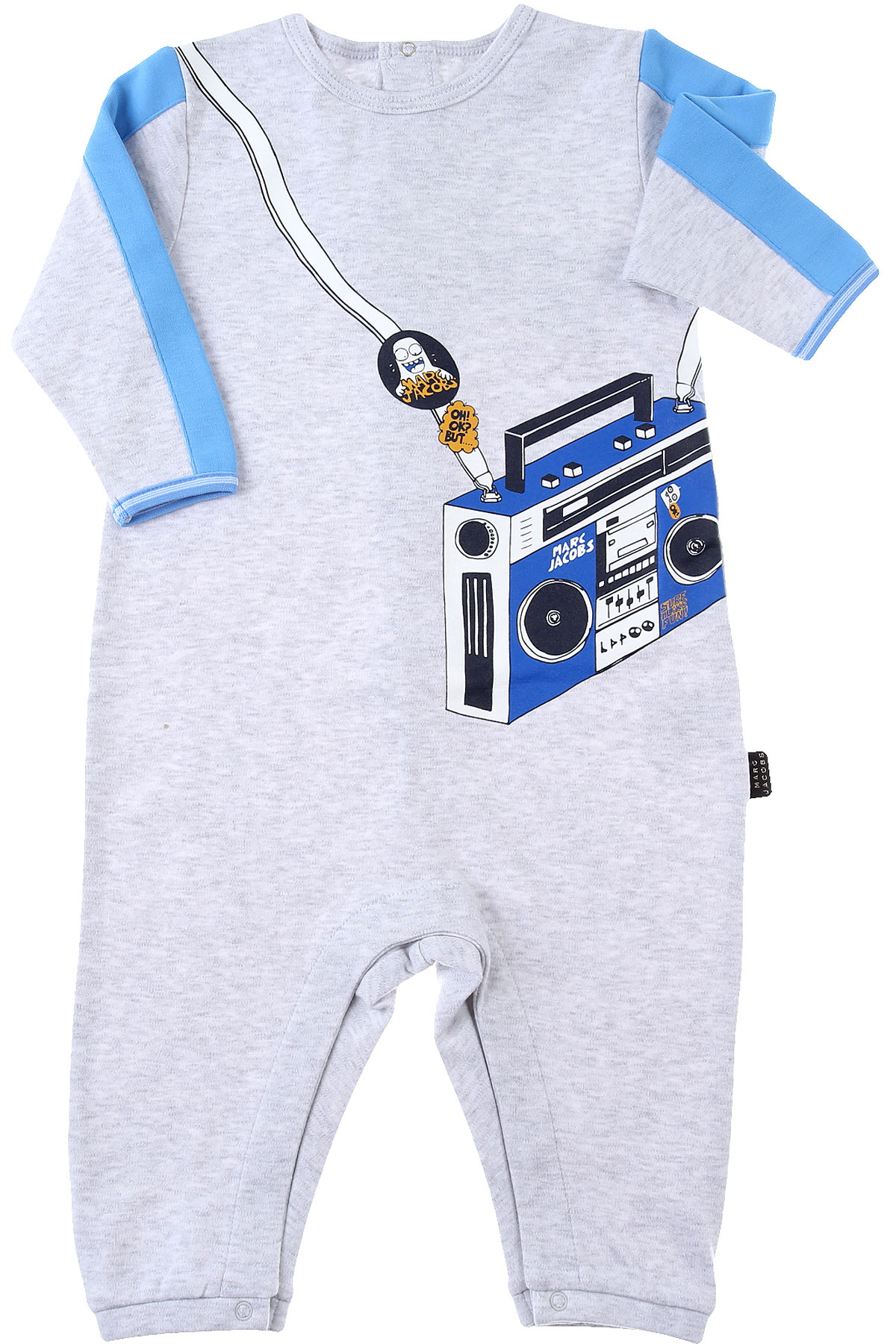 Marc Jacobs Baby Bodysuits & Onesies for Boys On Sale, Grey, Cotton, 2019, 1M 3M 6M