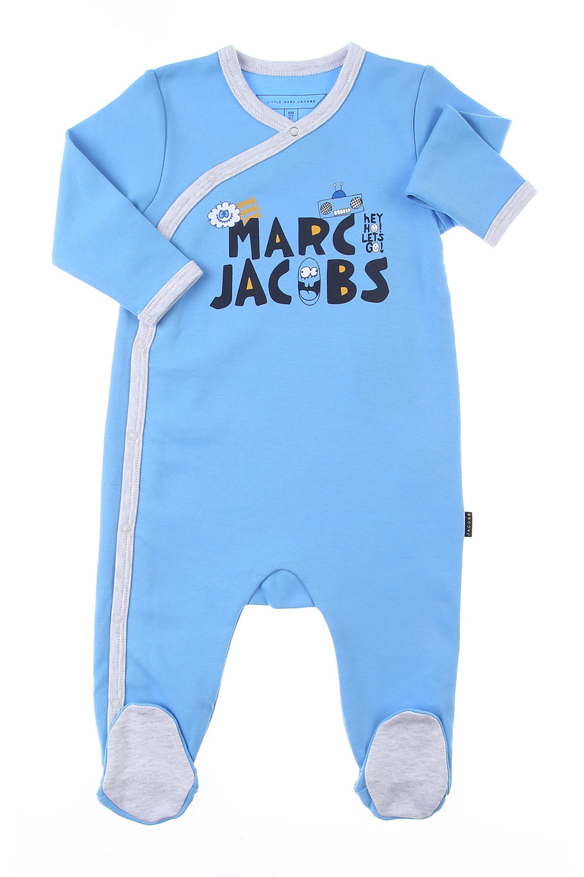 Marc Jacobs Baby Bodysuits & Onesies for Boys On Sale, Sky, Cotton, 2019, 3M 6M