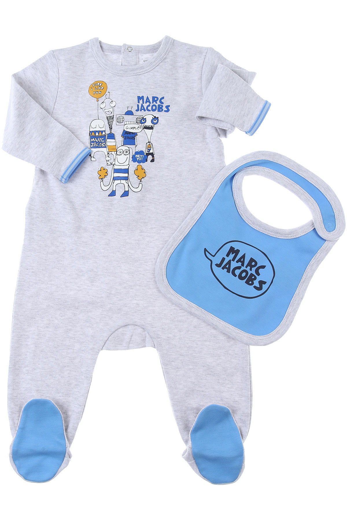 Marc Jacobs Baby Sets for Boys On Sale, Grey, Cotton, 2019, 1M 3M 6M