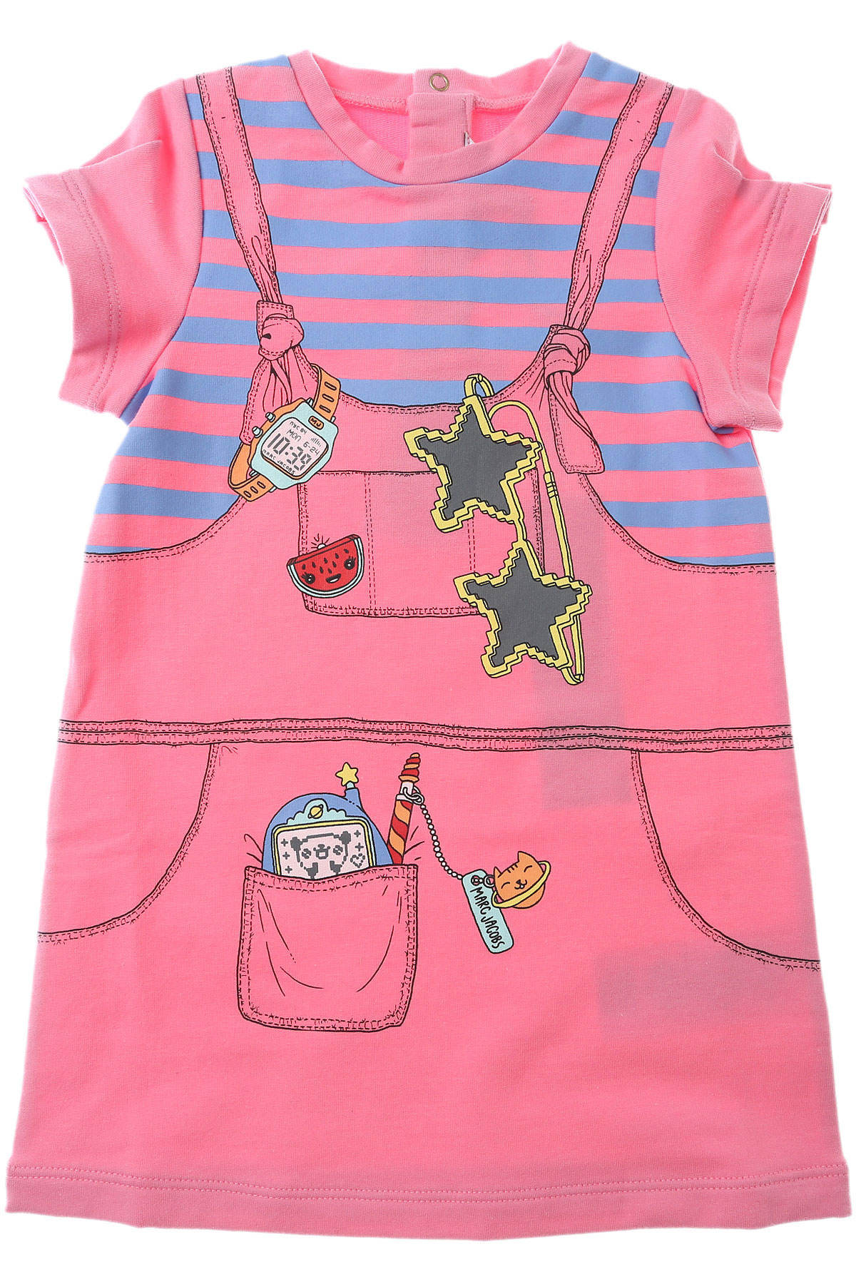 Marc Jacobs Baby Dress for Girls On Sale, Pink, Cotton, 2017, 12M 2Y 9M USA-446603