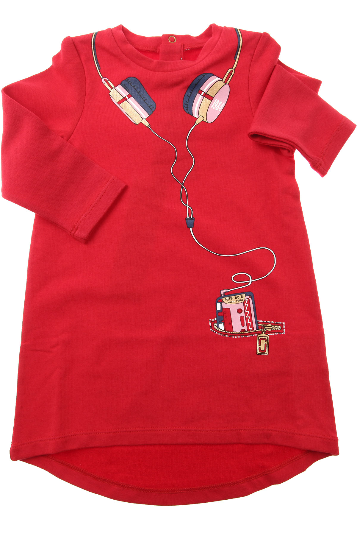 Image of Marc Jacobs Baby Dress for Girls, Red, Cotton, 2017, 12M 18M 2Y 6M 9M