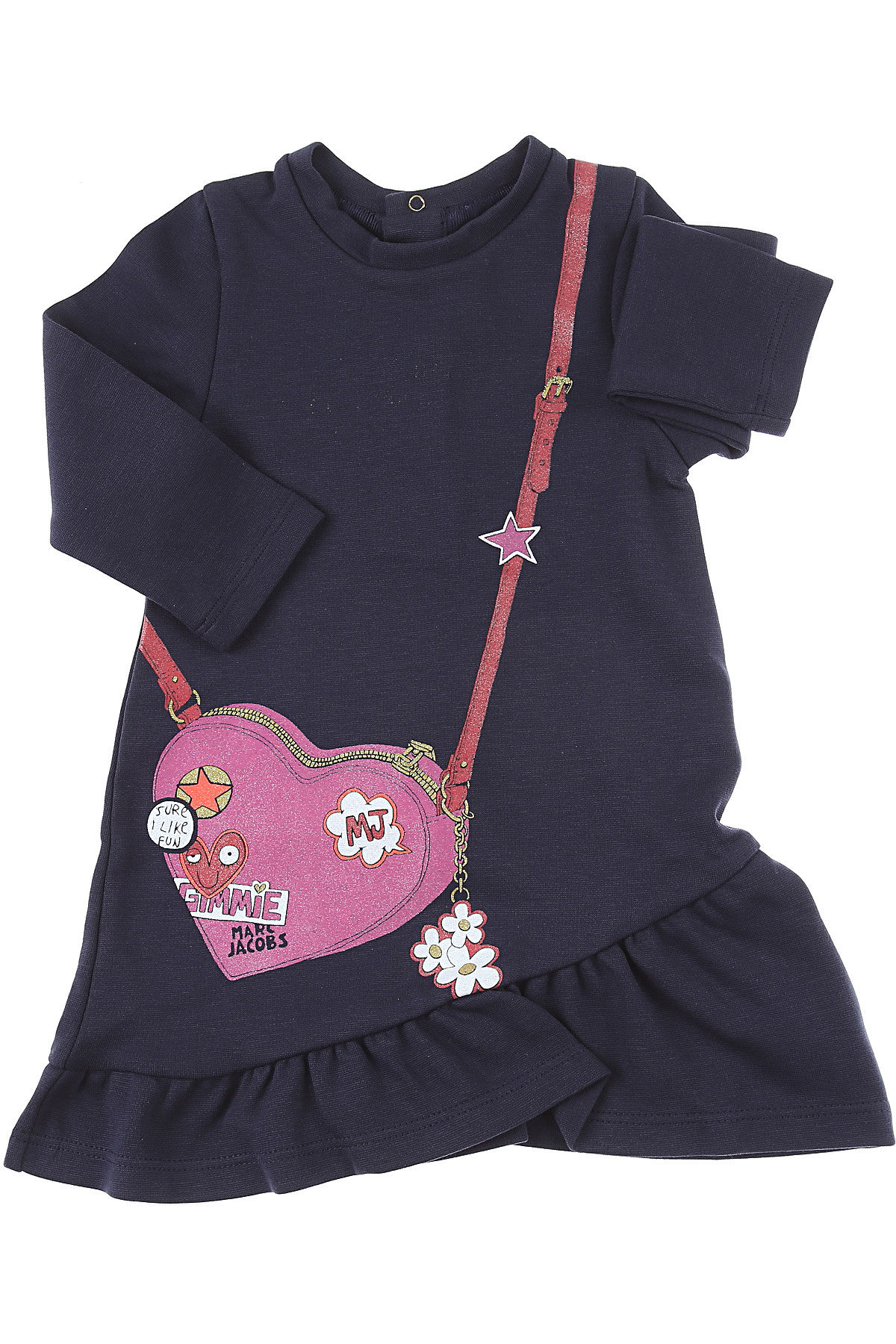 Marc Jacobs Baby Dress for Girls On Sale, Blue, Cotton, 2019, 12M 2Y 3Y 6M 9M
