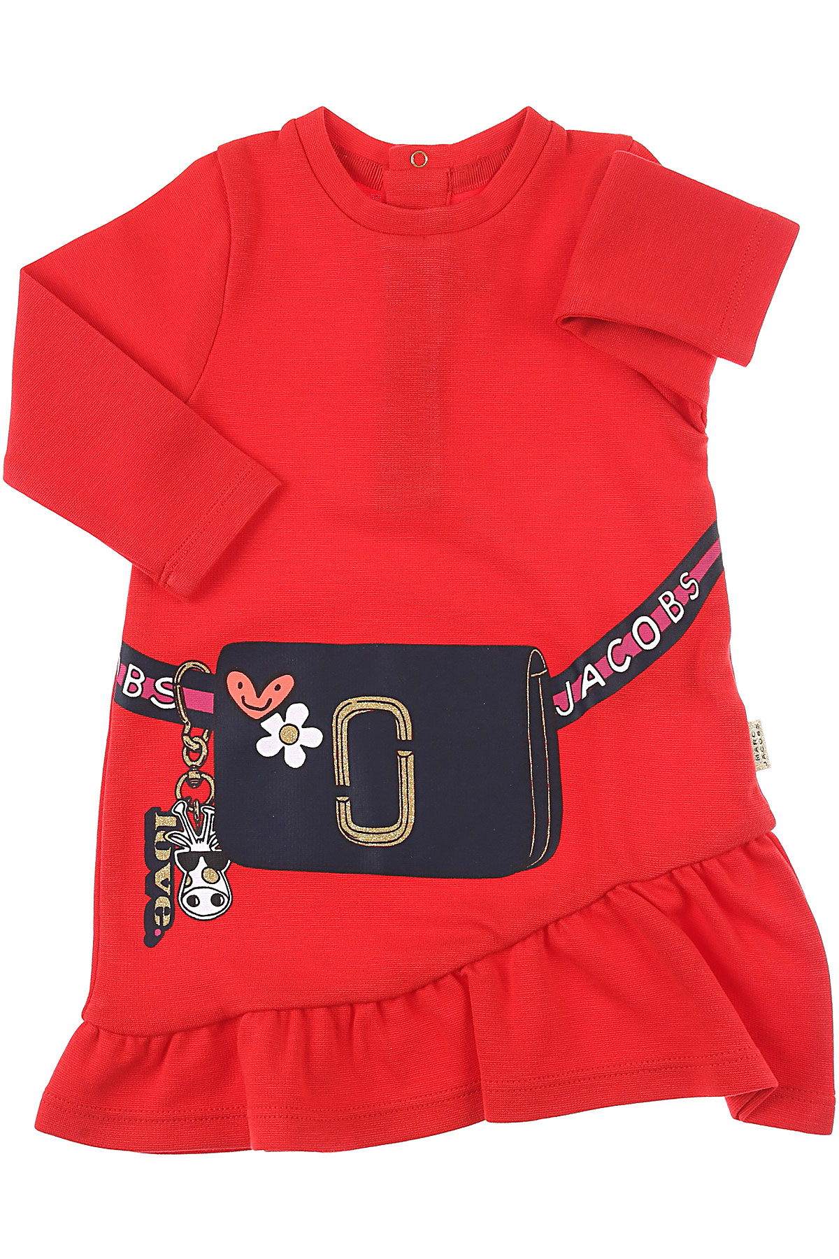 Marc Jacobs Baby Dress for Girls On Sale, Red, Cotton, 2019, 12M 18M 2Y 3Y 9M