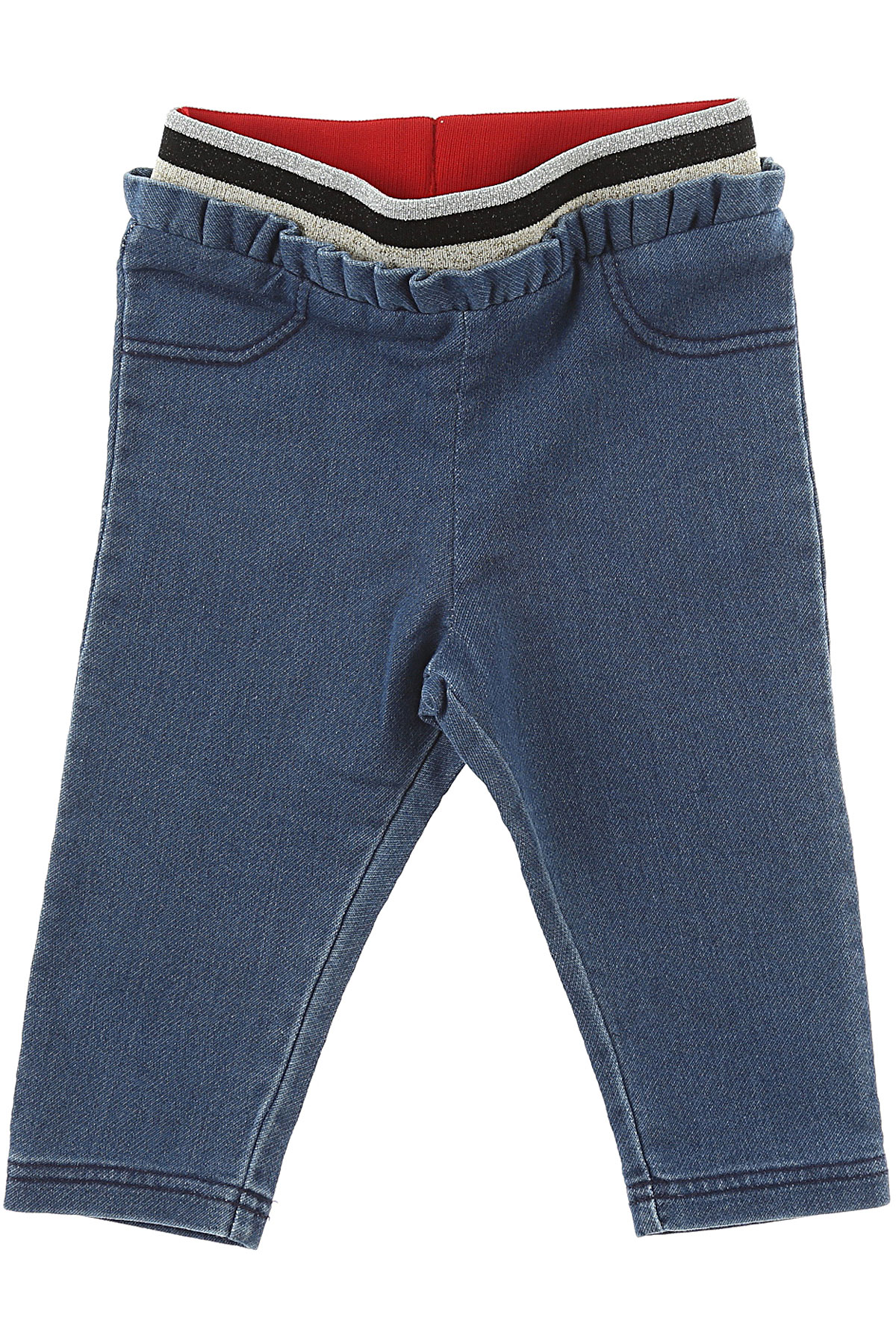 Image of Marc Jacobs Baby Jeans for Girls, Blue Denim, Cotton, 2017, 12M 18M 2Y 3M 3Y 6M 9M