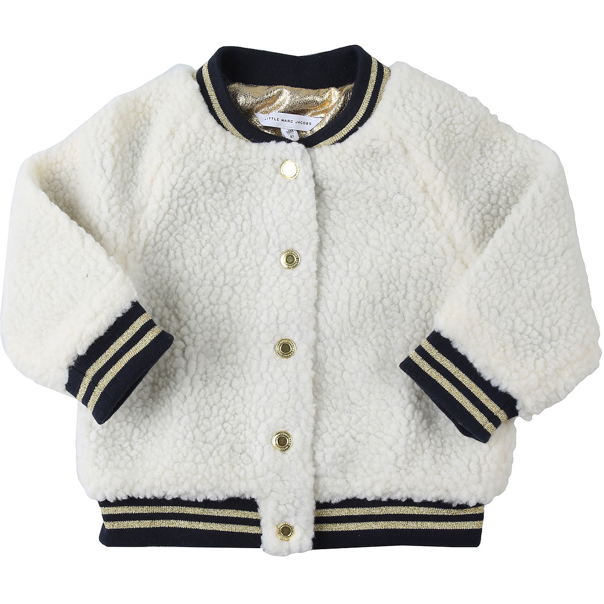 Marc Jacobs Baby Jacket for Girls On Sale, White, polyester, 2019, 12M 18M 2Y 3Y 9M