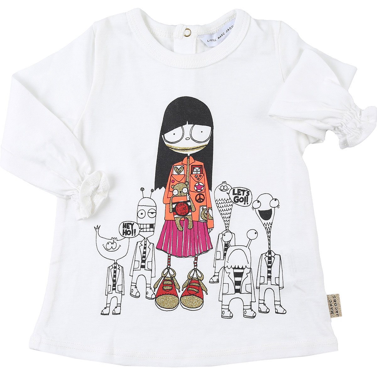 Marc Jacobs Baby T-Shirt for Girls On Sale, White, Cotton, 2019, 12M 18M 2Y 3Y 6M 9M