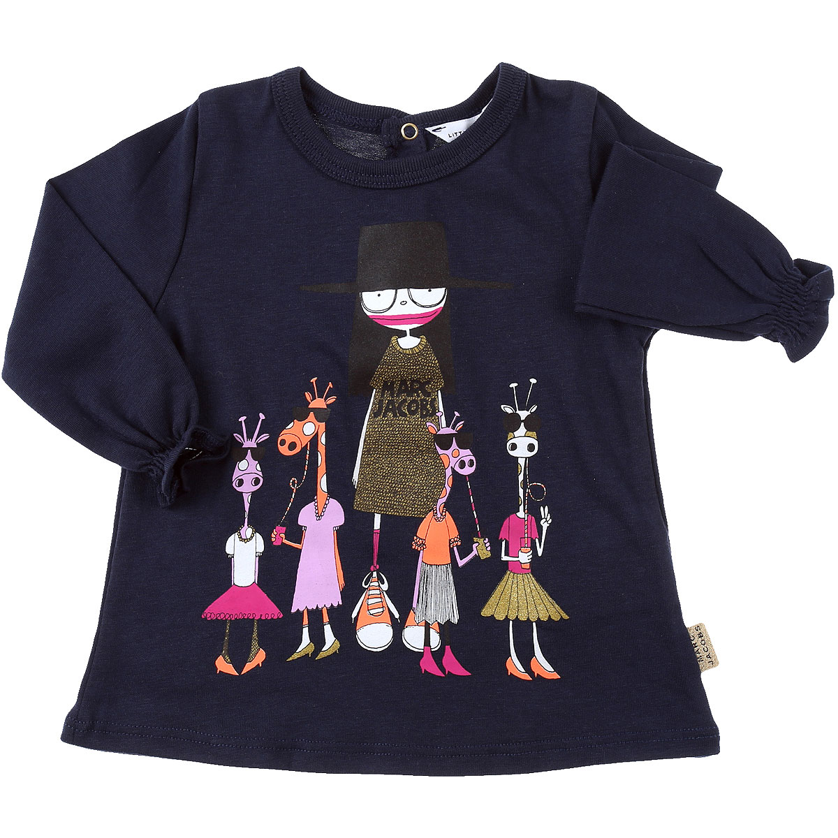 Marc Jacobs Baby T-Shirt for Girls On Sale, navy, Cotton, 2019, 12M 18M 2Y 3Y 6M 9M