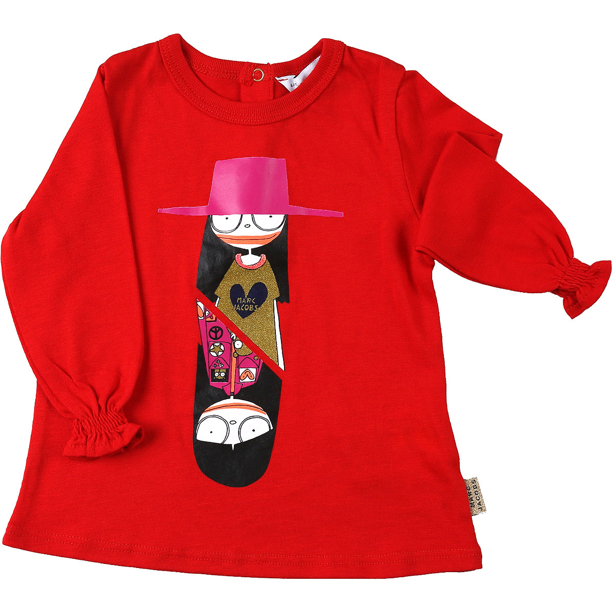 Marc Jacobs Baby T-Shirt for Girls On Sale, Red, Cotton, 2019, 12M 18M 2Y 3Y 6M 9M