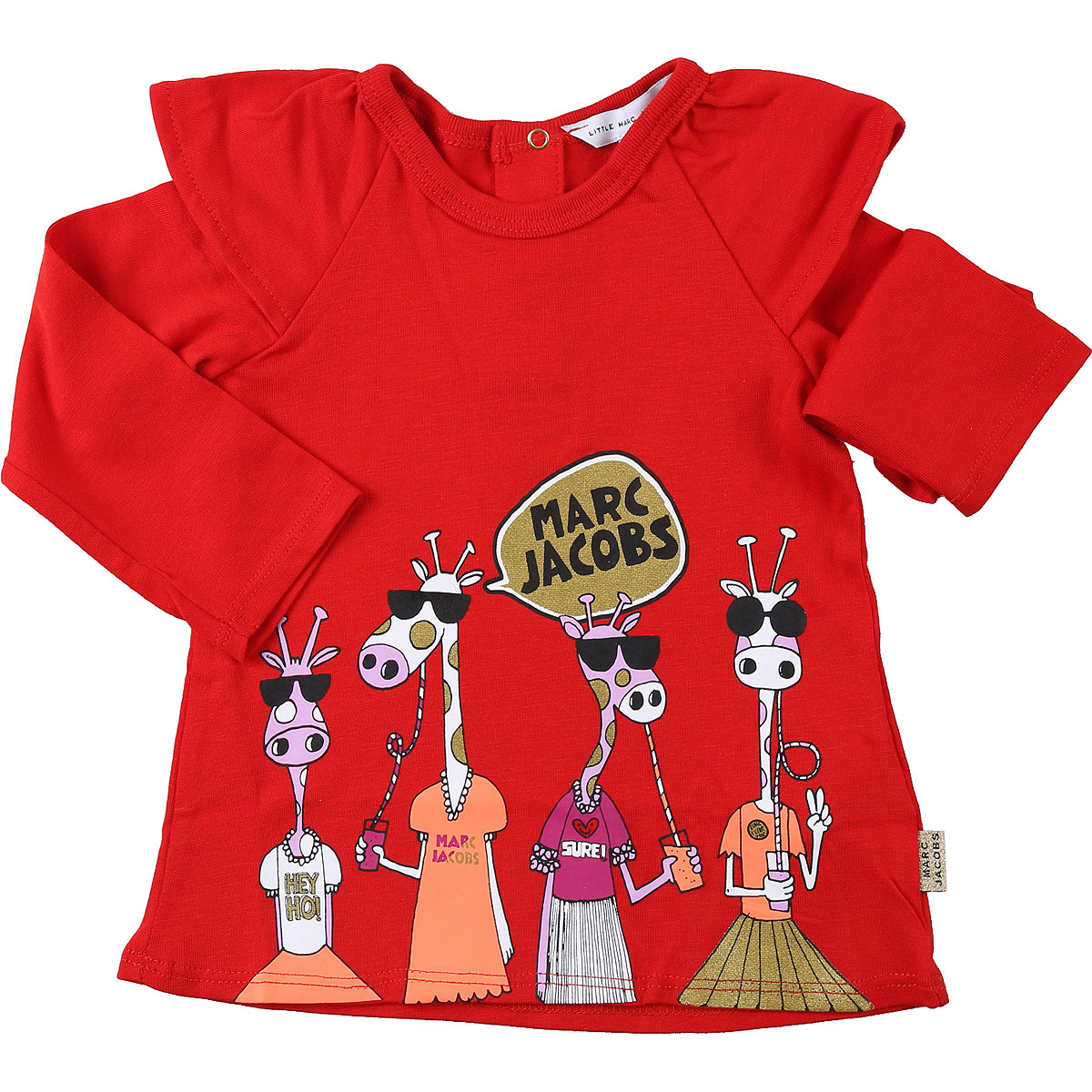 Marc Jacobs Baby T-Shirt for Girls On Sale, Red, Cotton, 2019, 12M 18M 2Y 3M 3Y 6M 9M