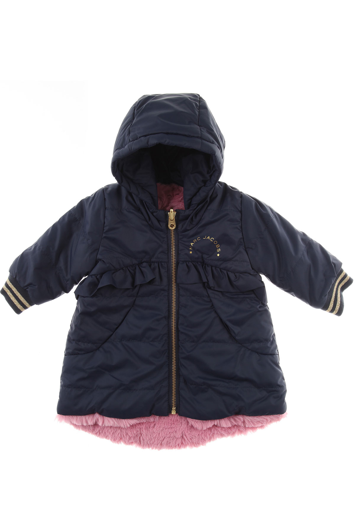 Image of Marc Jacobs Baby Jacket for Girls, Blue, polyester, 2017, 12M 18M 3Y 6M