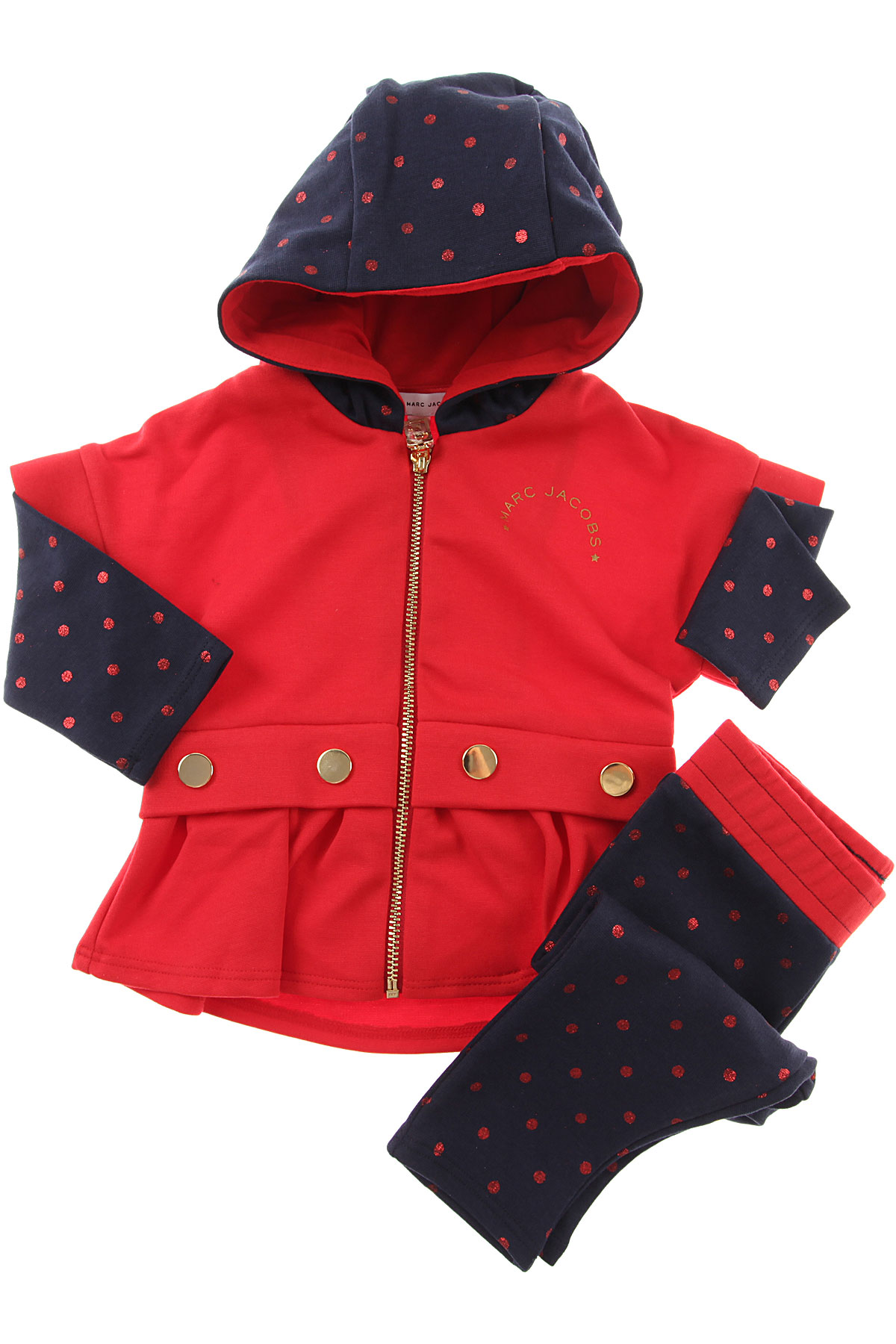 Image of Marc Jacobs Baby Sets for Girls, Red, Cotton, 2017, 12M 18M 2Y 3Y 6M 9M