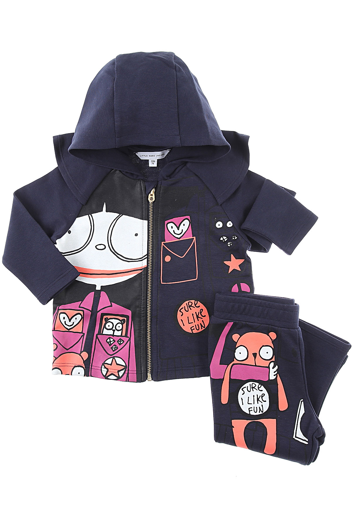 Marc Jacobs Baby Sets for Girls On Sale, Midnight Blue, Cotton, 2019, 12M 18M