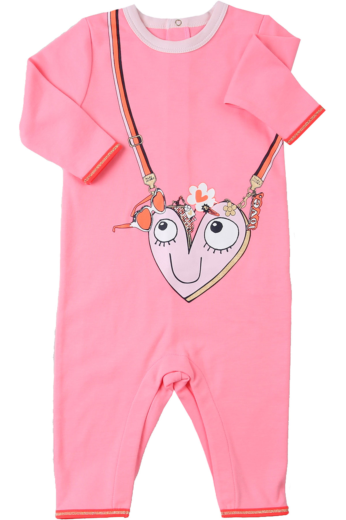 Marc Jacobs Baby Bodysuits & Onesies for Girls On Sale, Fluo Pink, polyester, 2019, 1M 3M 6M