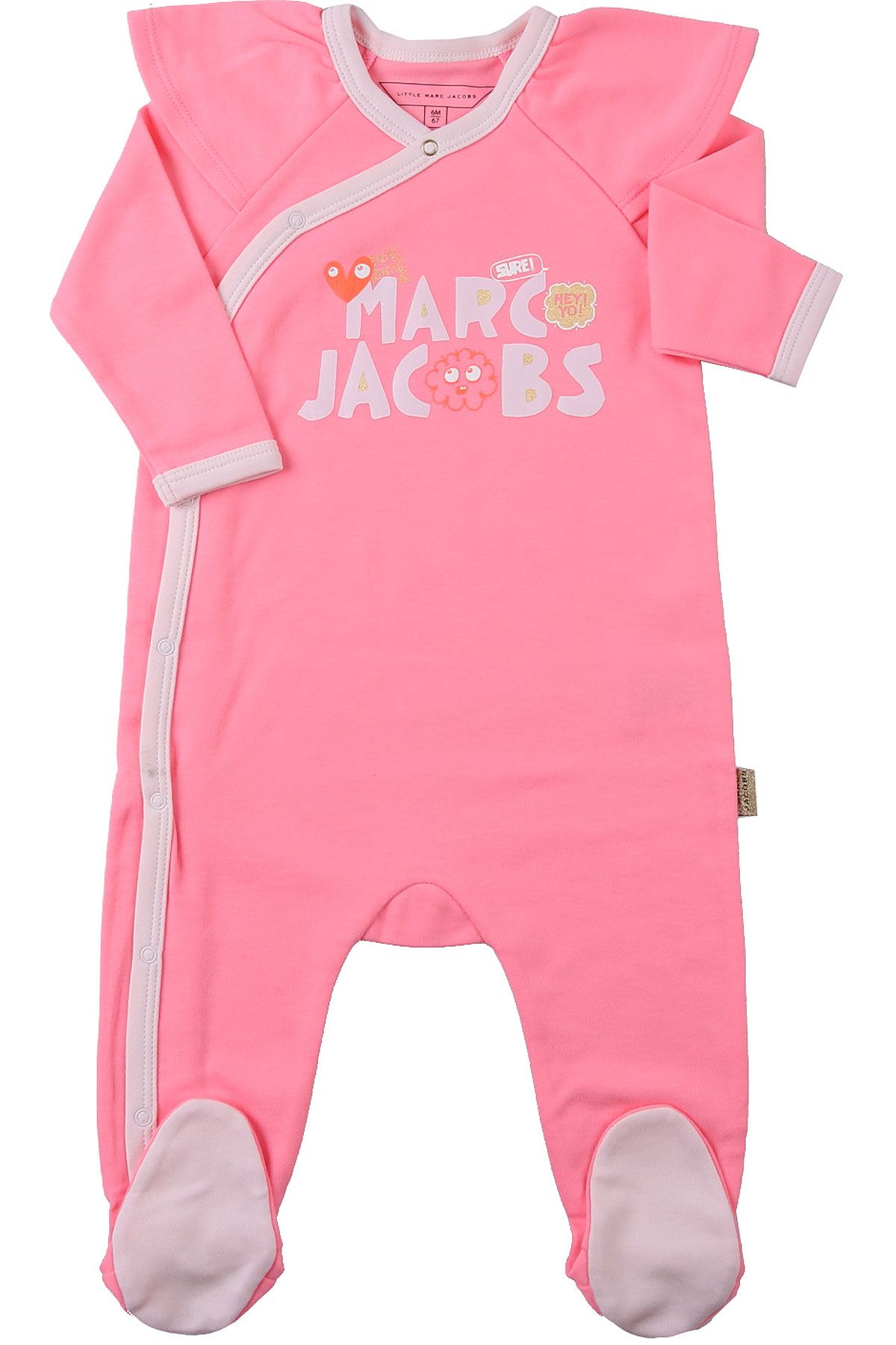 Marc Jacobs Baby Bodysuits & Onesies for Girls On Sale, Fluo Pink, polyester, 2019, 1M 6M