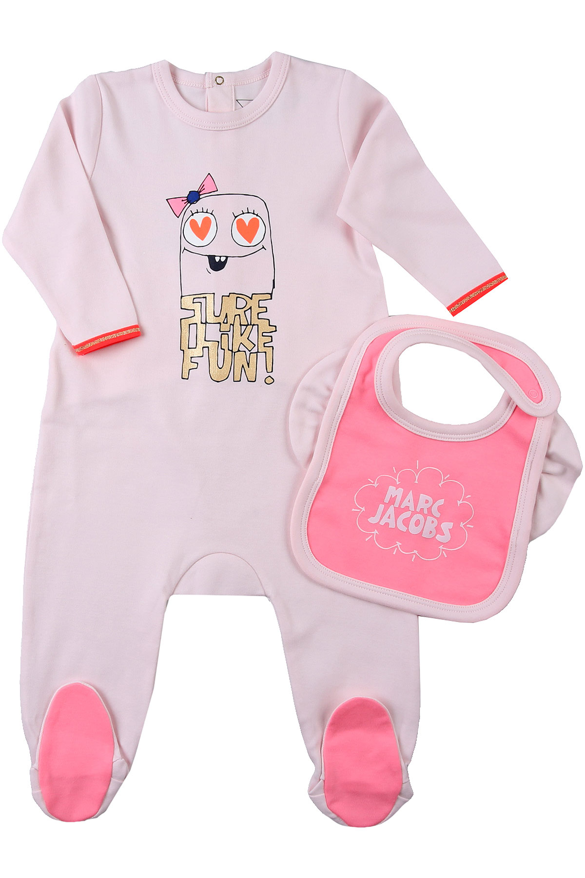 Marc Jacobs Baby Sets for Girls On Sale, Pale Pink, Cotton, 2019, 1M 3M 6M