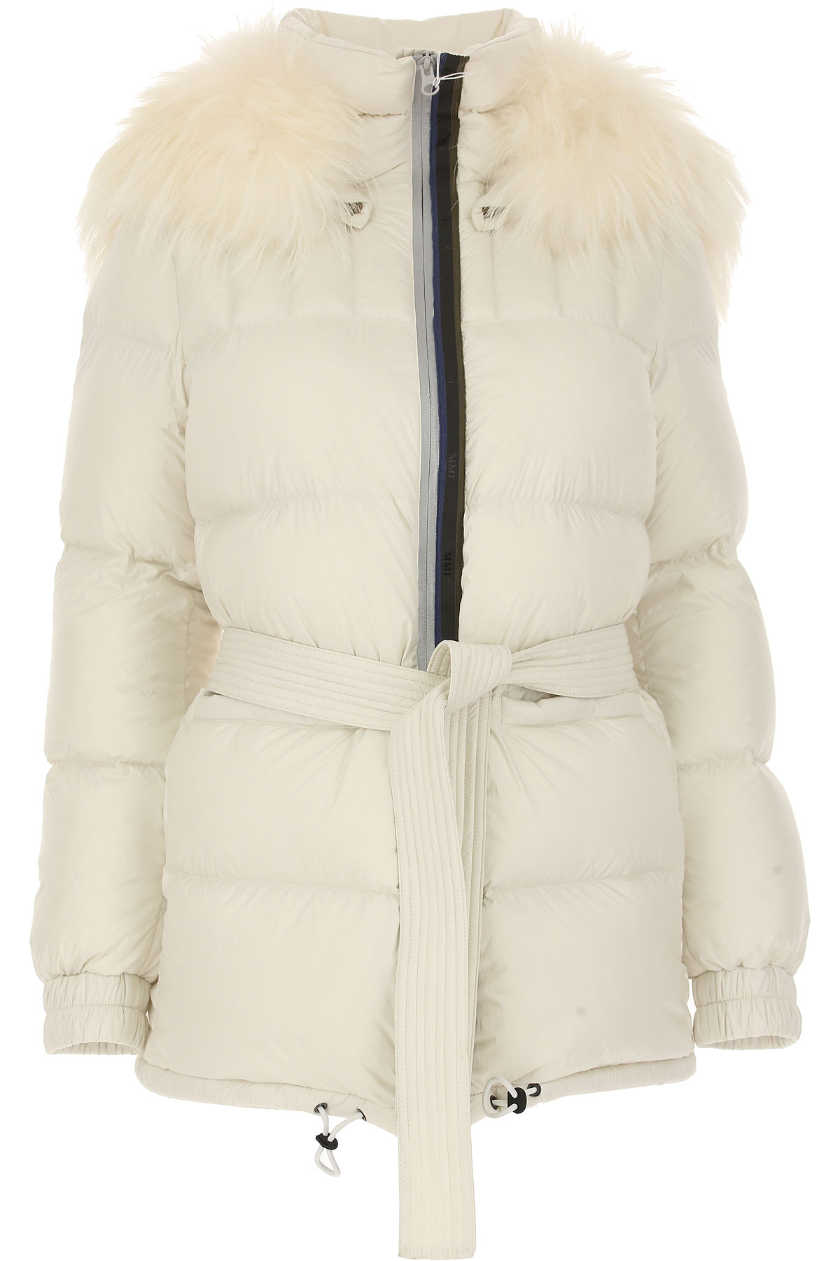 Image of Mr & Mrs Italy Down Jacket for Women, Puffer Ski Jacket, Cream, polyester, 2017, 4 6