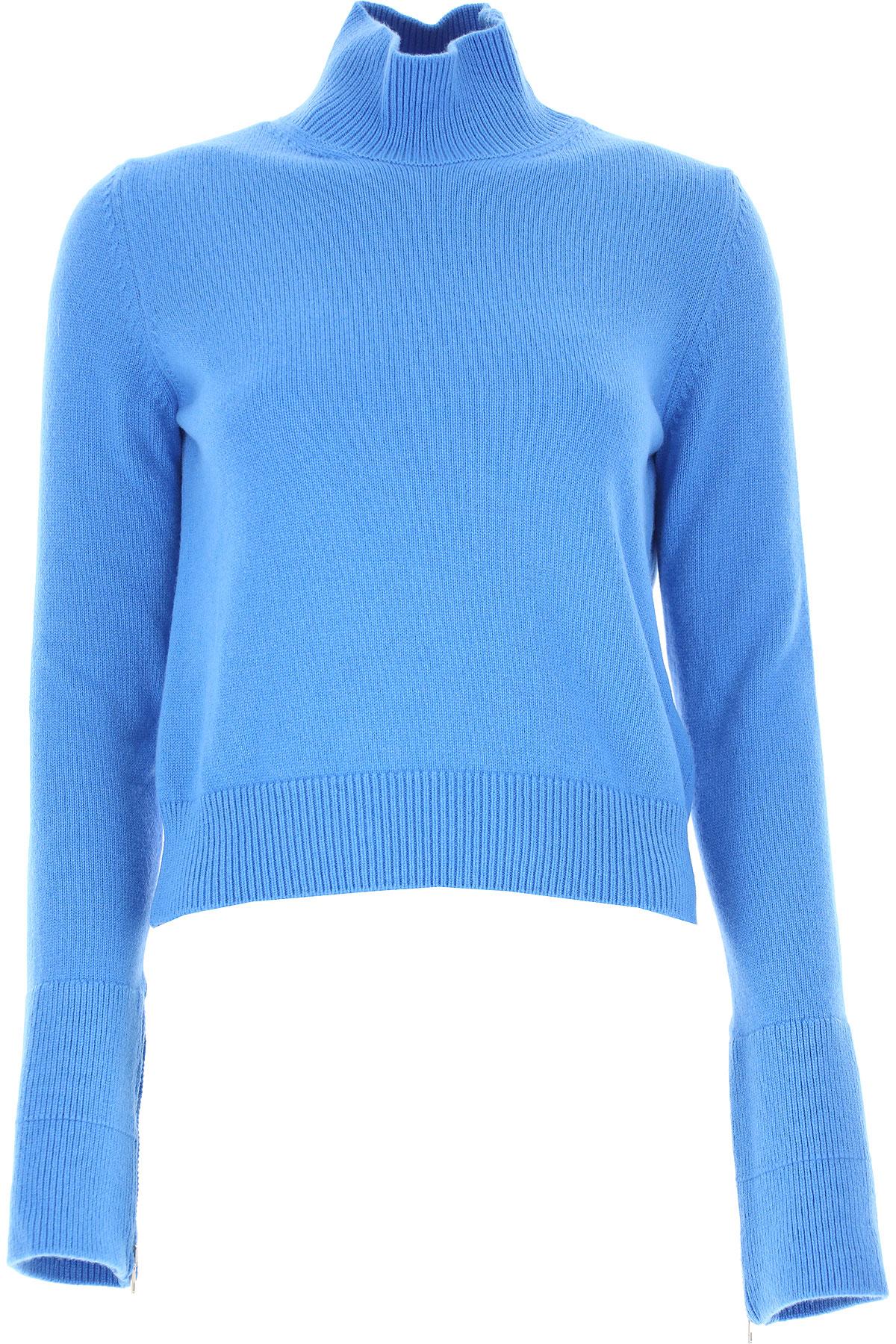 Image of MRZ Sweater for Women Jumper, Bright Light Sky Blue, Wool, 2017, 4 6