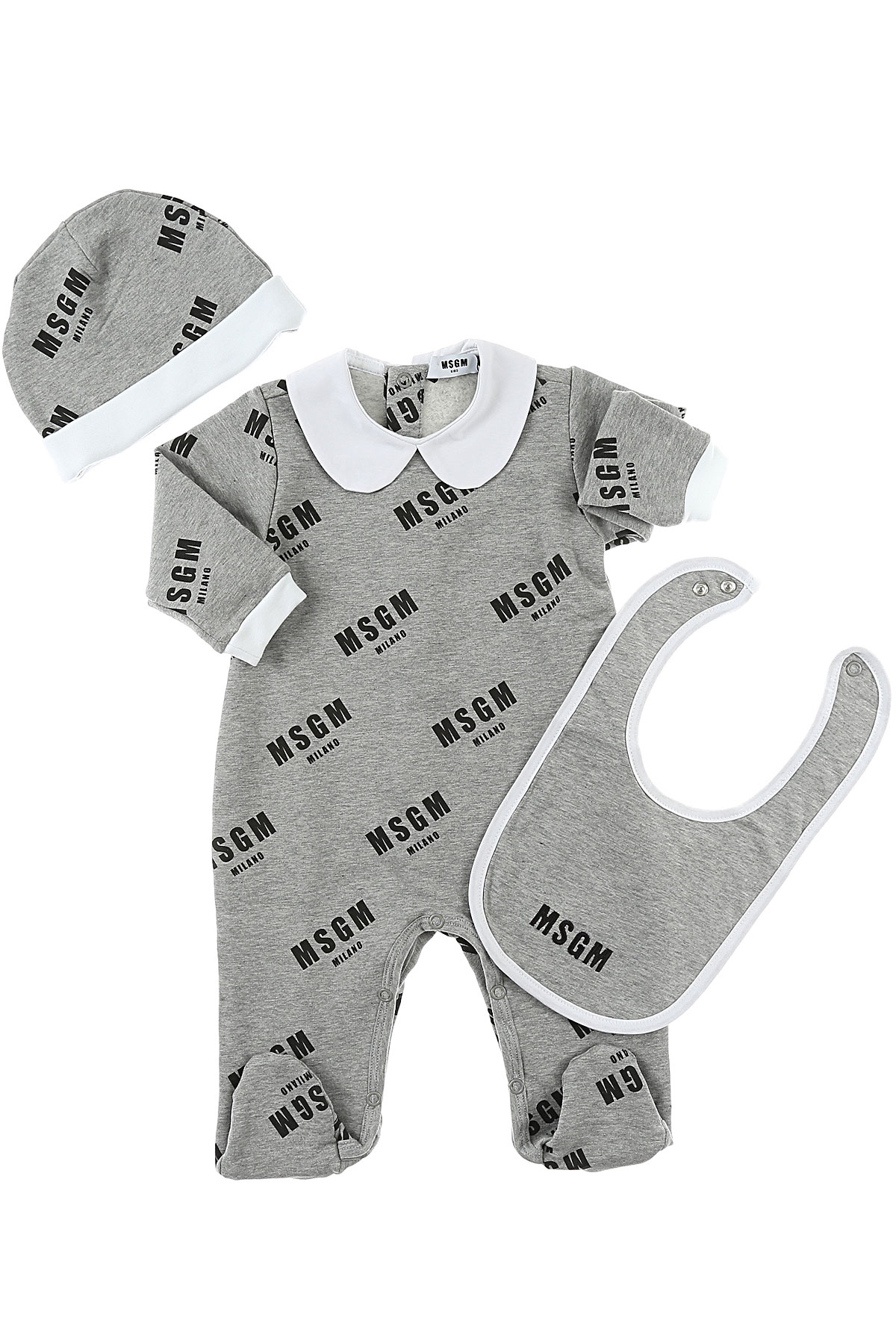 Image of MSGM Baby Sets for Boys, Grey, Cotton, 2017, 12M 18M 9M