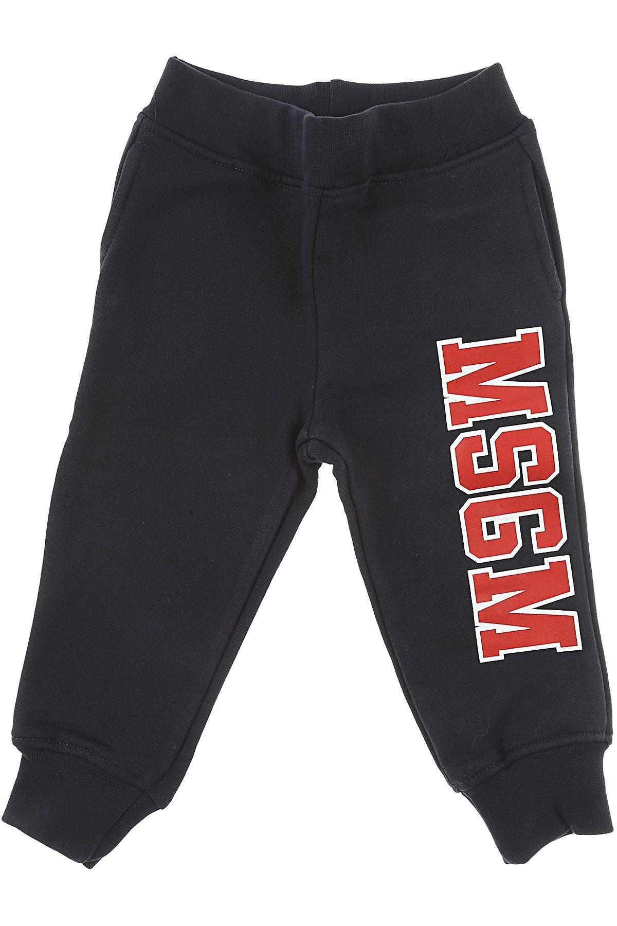 MSGM Baby Sweatpants for Boys On Sale, Black, Cotton, 2017, 12M 18M 2Y 9M