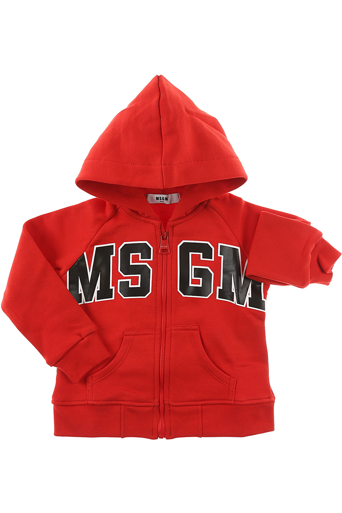 Image of MSGM Baby Sweatshirts & Hoodies for Boys, Red, Cotton, 2017, 12M 18M 6M 9M