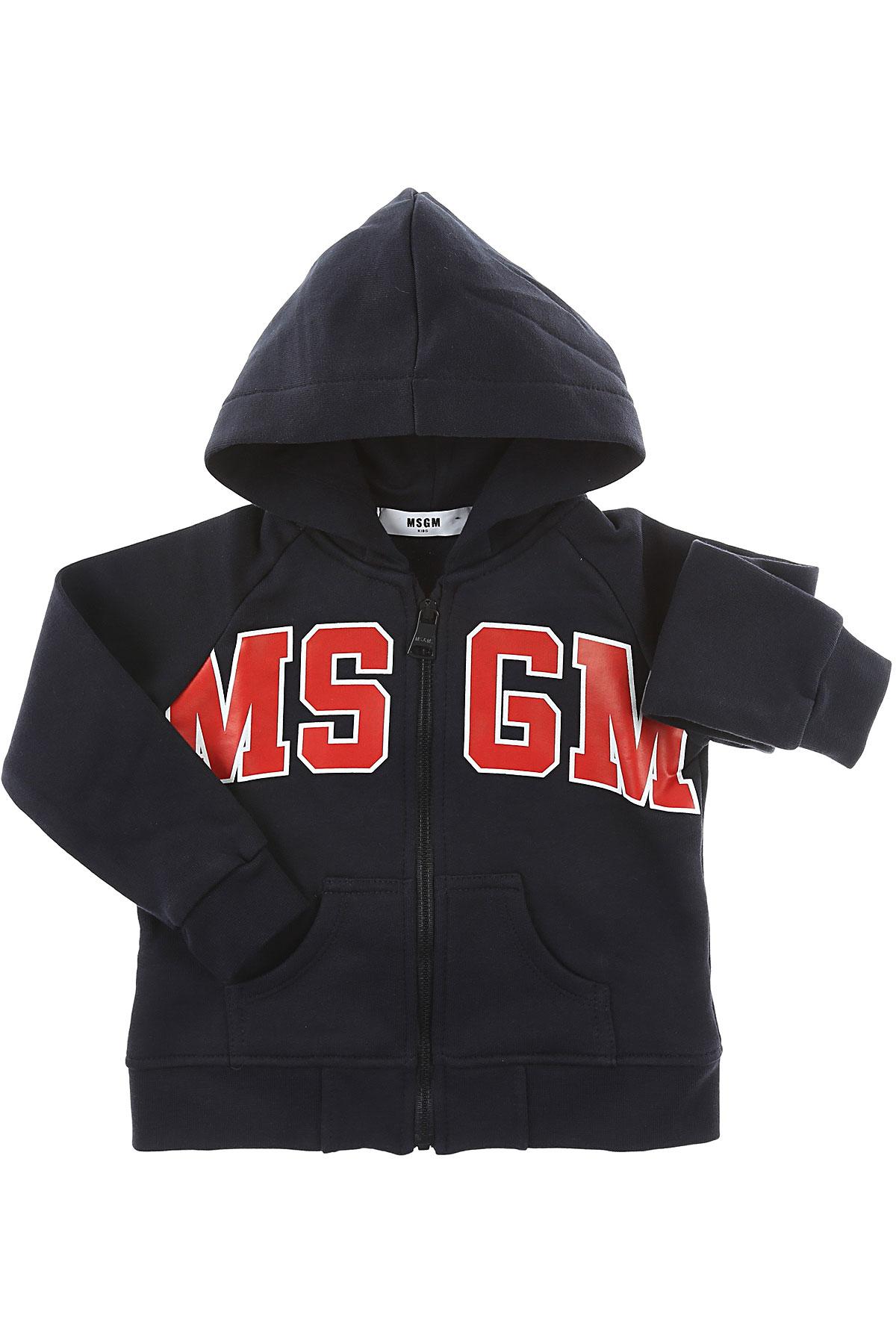Image of MSGM Baby Sweatshirts & Hoodies for Boys, Blue, Cotton, 2017, 12M 18M 6M 9M