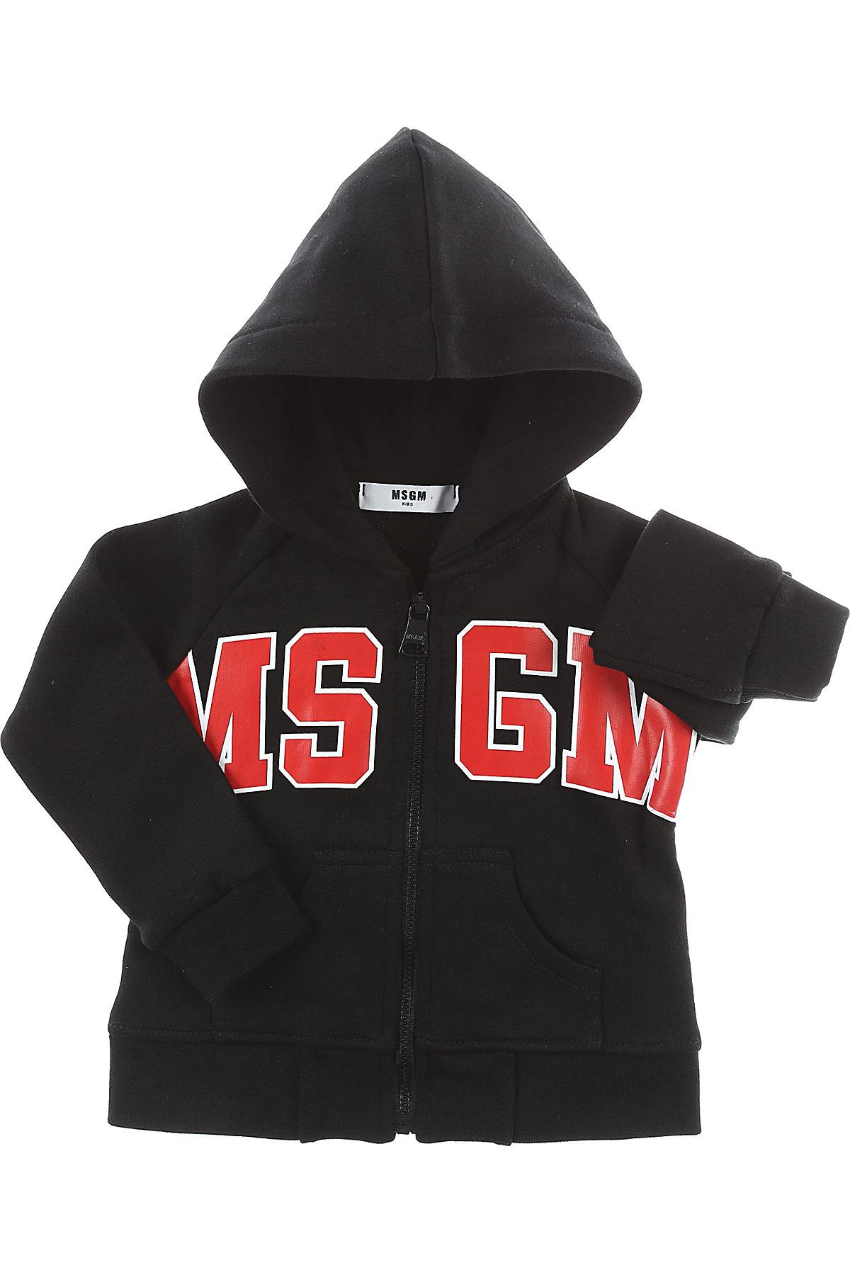 MSGM Baby Sweatshirts & Hoodies for Boys On Sale, Black, Cotton, 2017, 12M 18M 2Y 9M