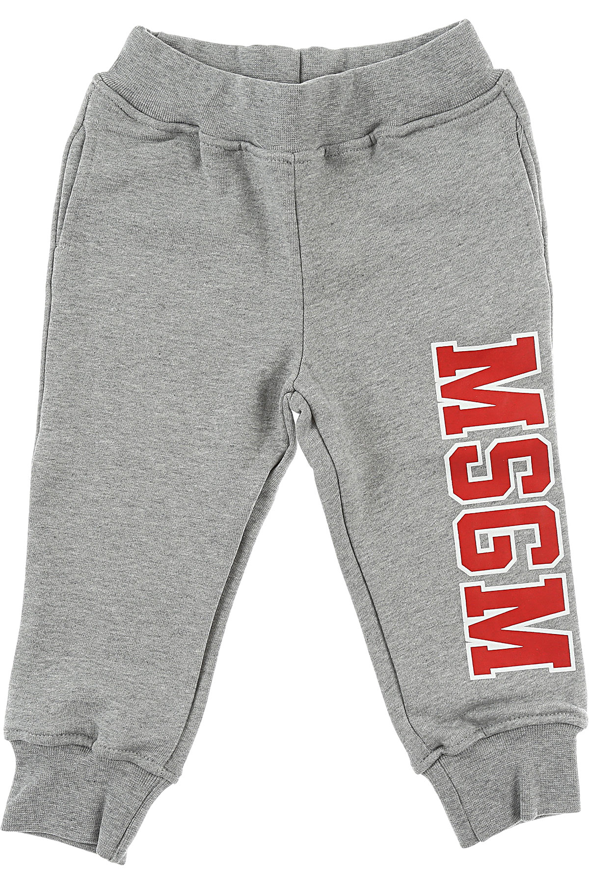 Image of MSGM Baby Sweatpants for Girls, Grey, Cotton, 2017, 18M 6M