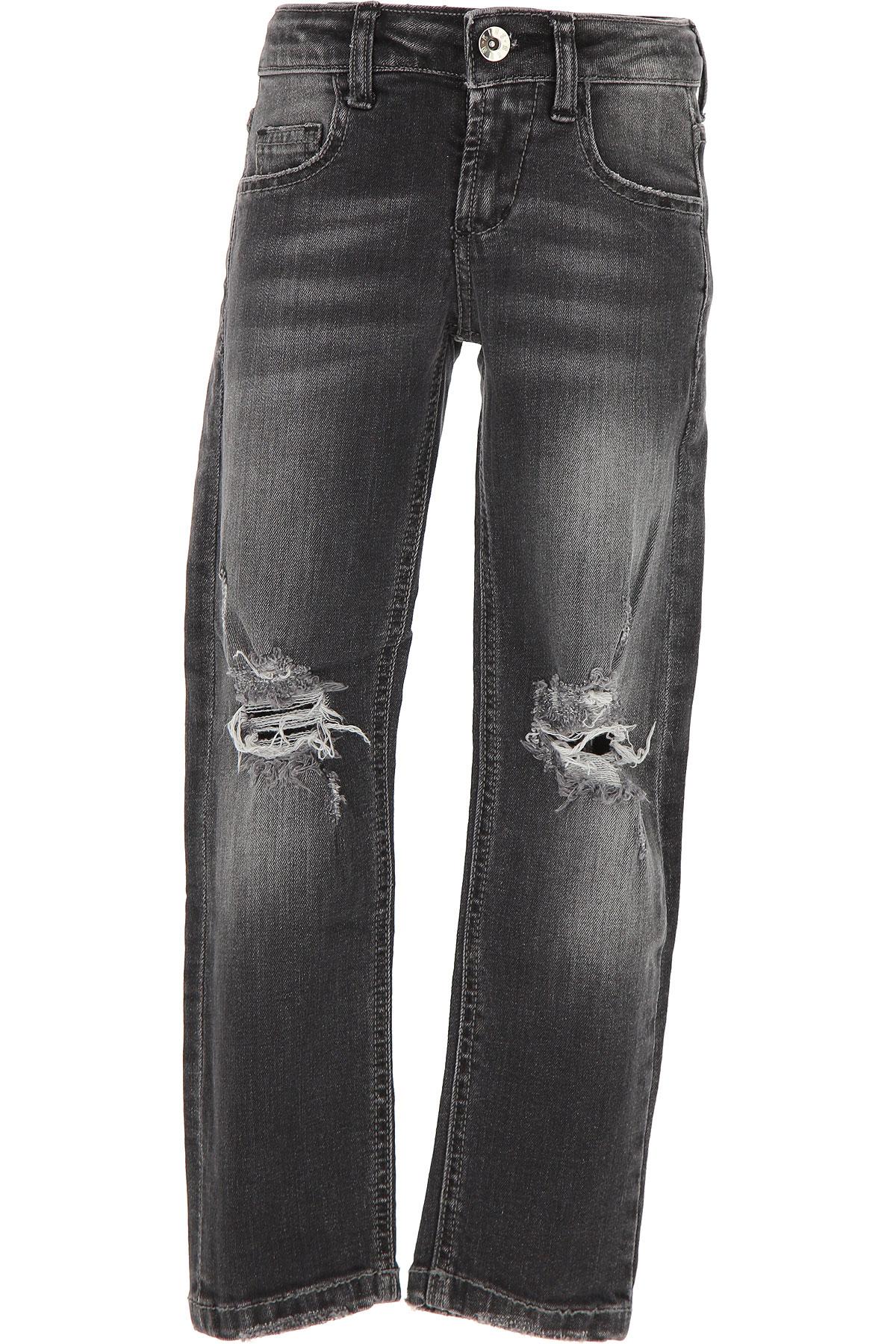 MSGM Kids Jeans for Boys On Sale in Outlet, Black, Cotton, 2017, 10Y 14Y 4Y 6Y 8Y