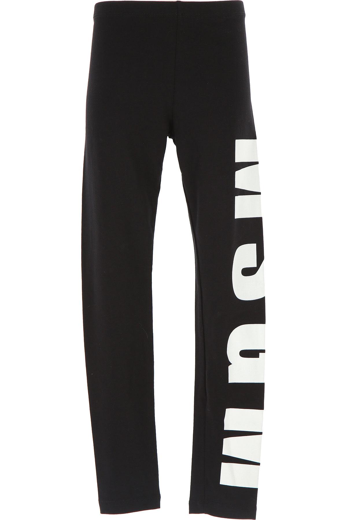 Image of MSGM Kids Pants for Girls, Black, Cotton, 2017, 10Y 14Y 4Y 6Y 8Y