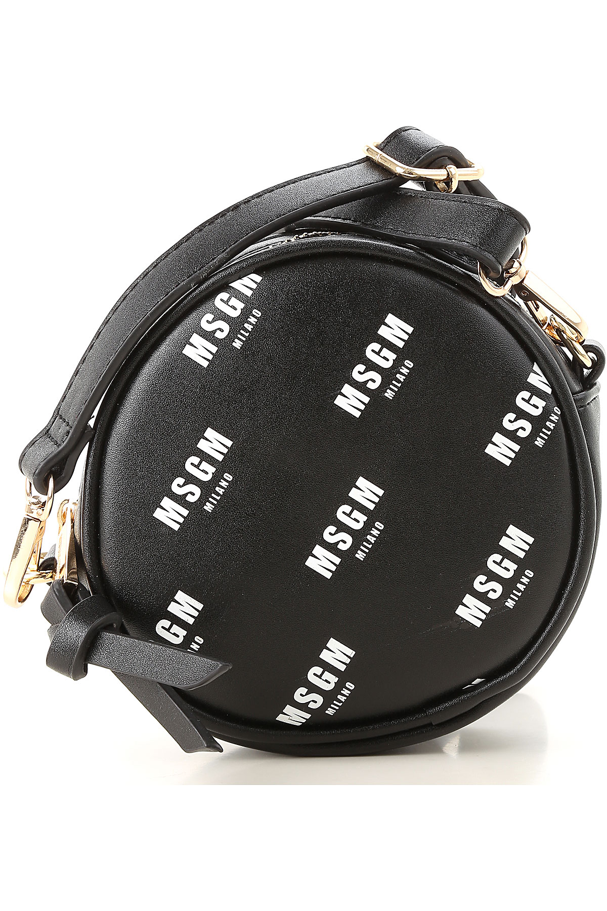 Image of MSGM Girls Handbag, Black, Eco Leather, 2017