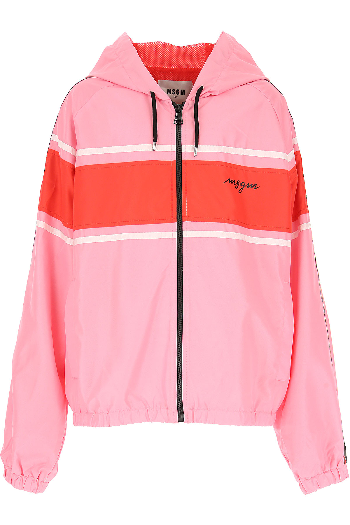 MSGM Kids Jacket for Girls, Pink, polyester, 2017, 10Y 14Y