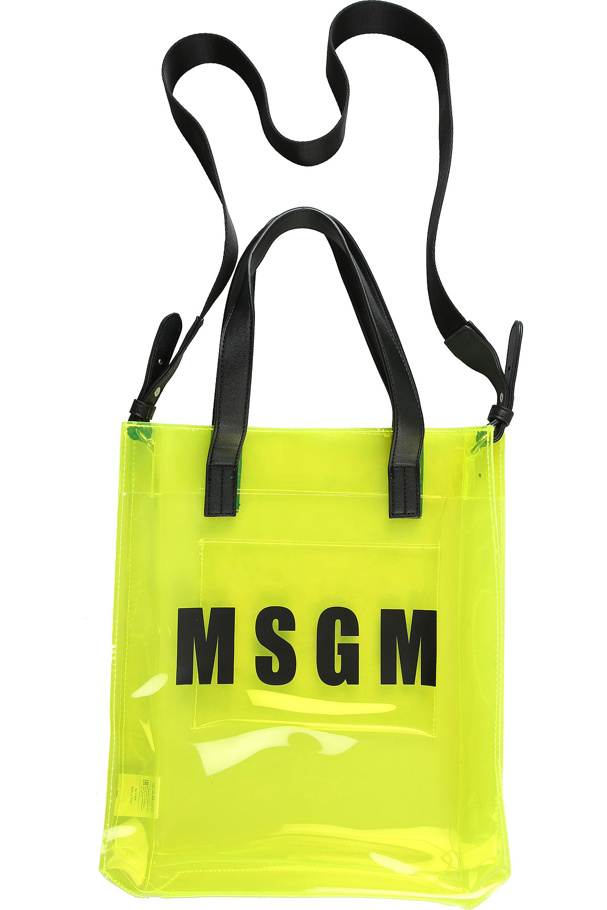 MSGM Accessories, Yellow Fluo, PVC, 2017