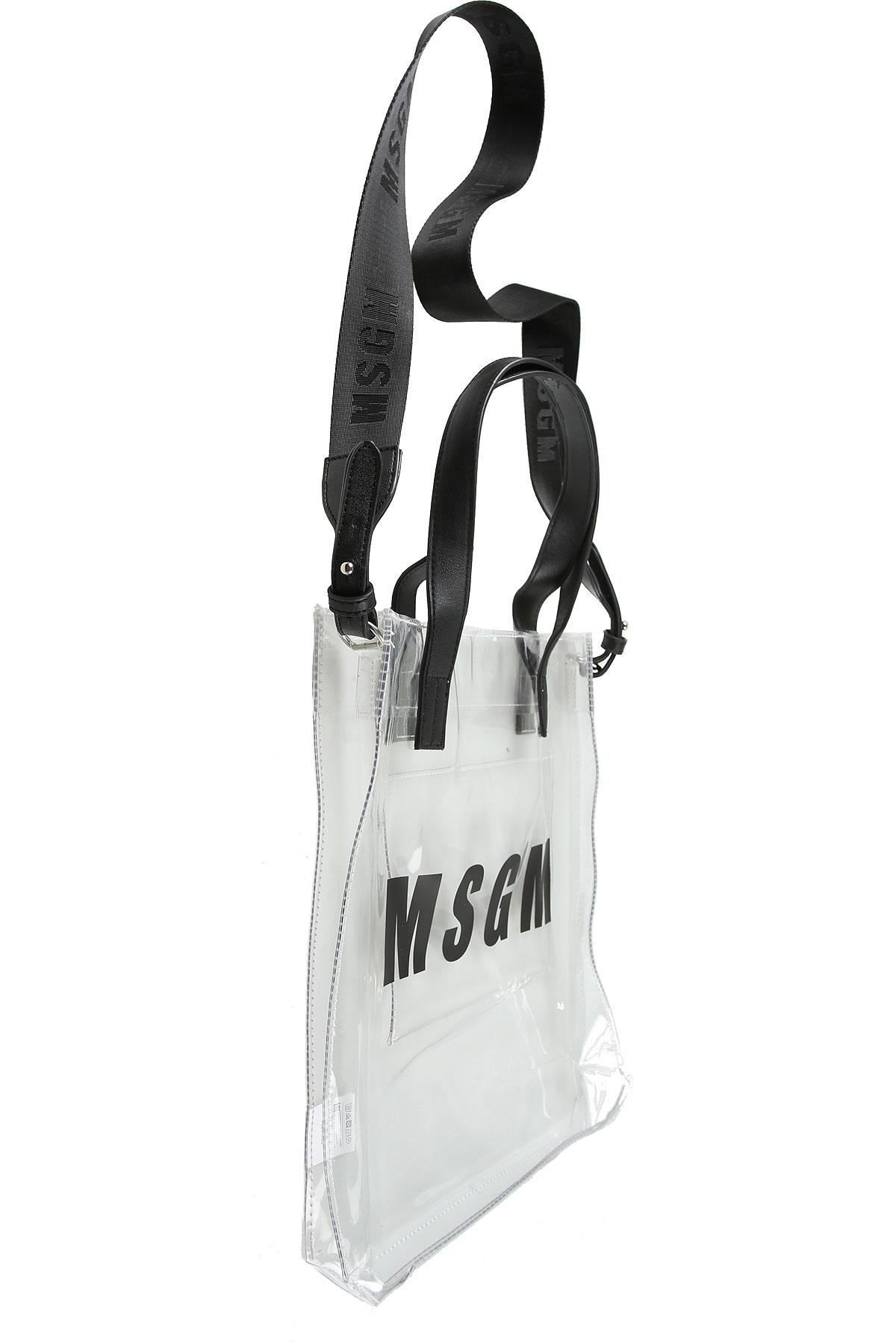 MSGM Sac à Main Fille, Transparent, PVC, 2017