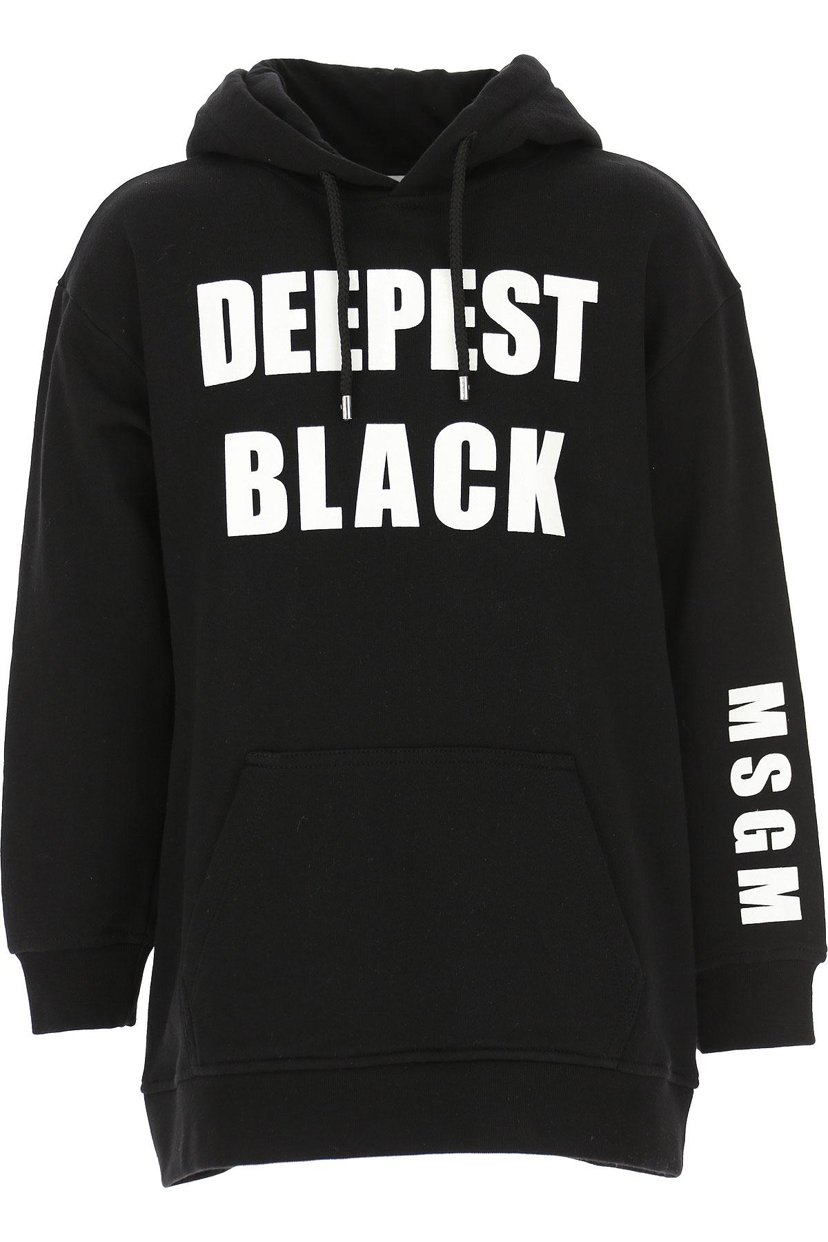MSGM Kids Sweatshirts & Hoodies for Girls, Black, Cotton, 2017, 10Y 14Y 4Y 6Y 8Y