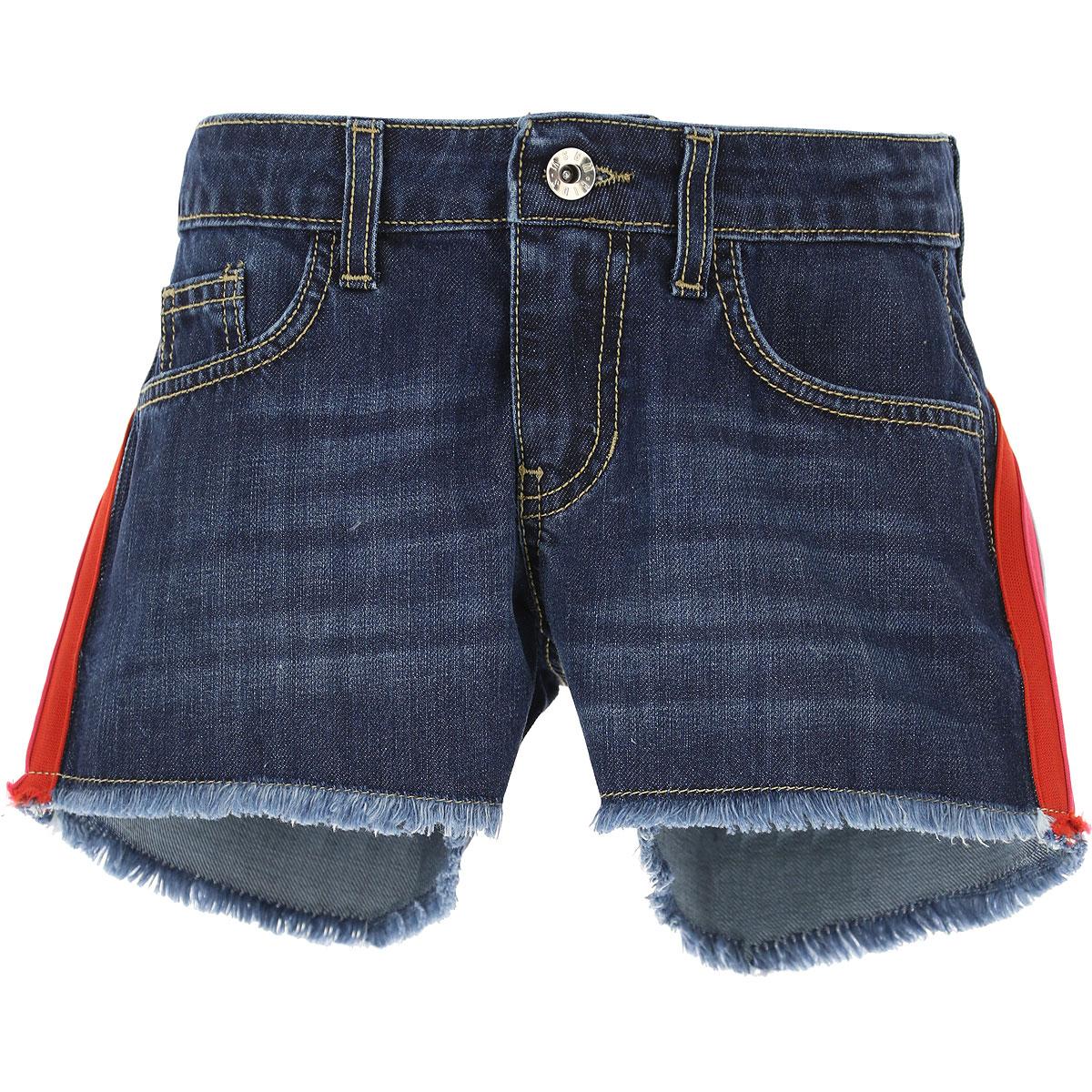 MSGM Kids Shorts for Girls, Blu Denim, Cotton, 2017, 10Y 14Y 8Y