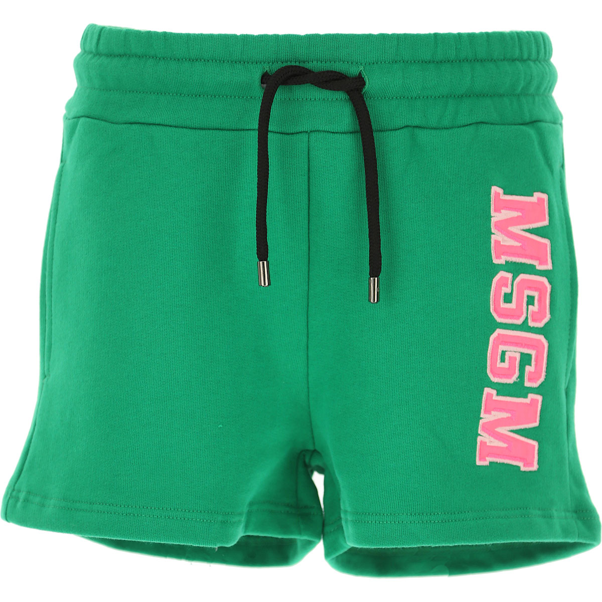 MSGM Kids Shorts for Girls, Green, Cotton, 2017, 10Y