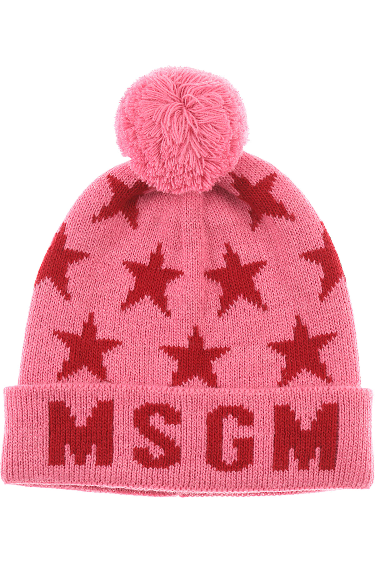 Image of MSGM Kids Hats for Girls, Pink, Acrylic, 2017