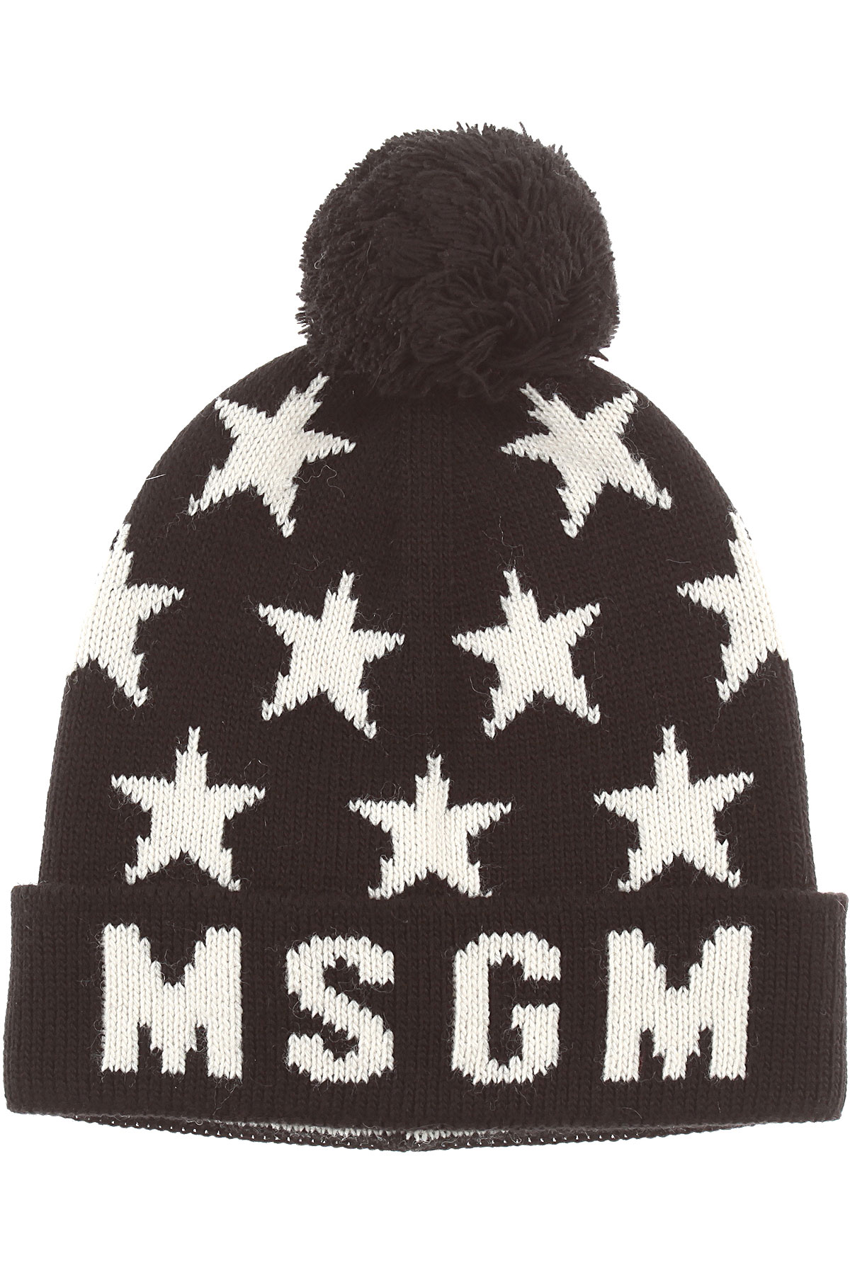 Image of MSGM Kids Hats for Girls, Black, Acrylic, 2017