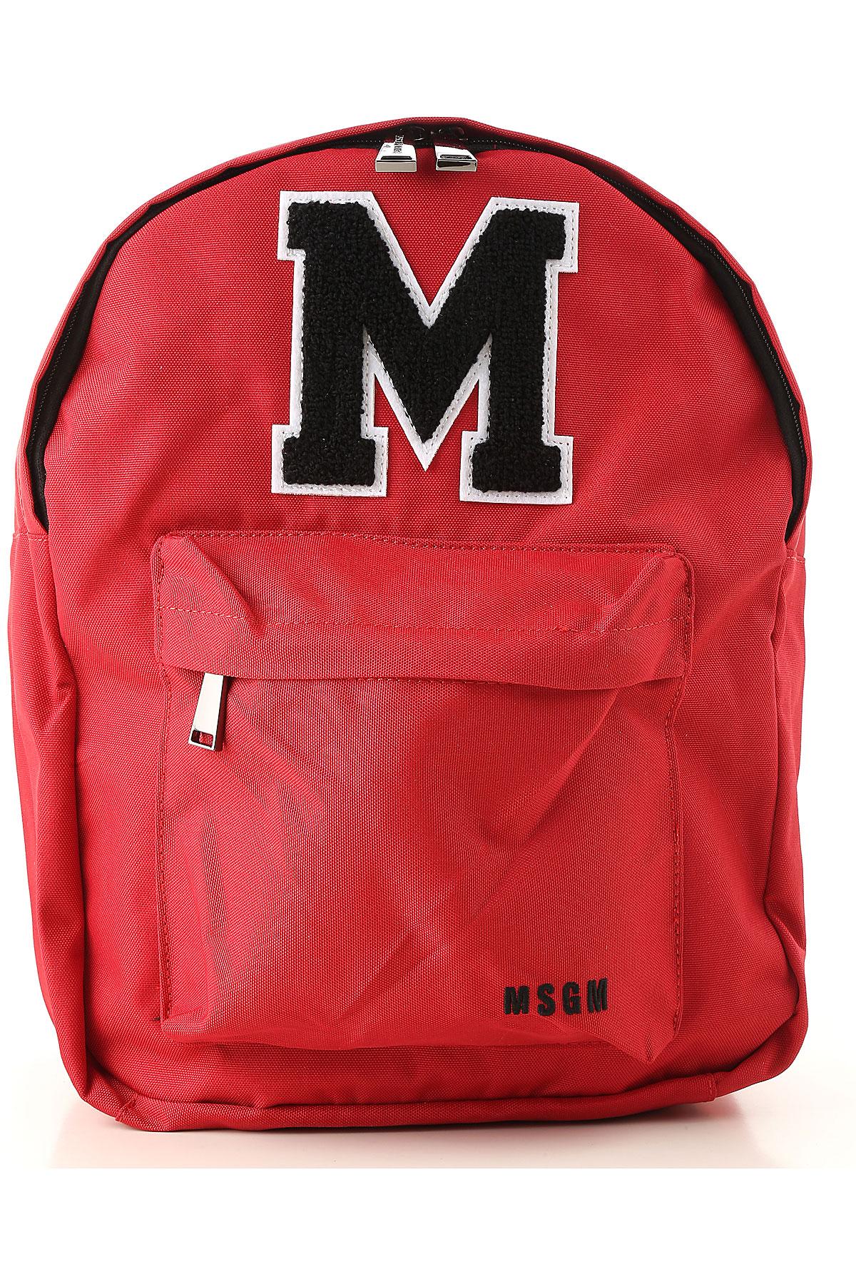 Image of MSGM Handbags, Red, Nylon, 2017