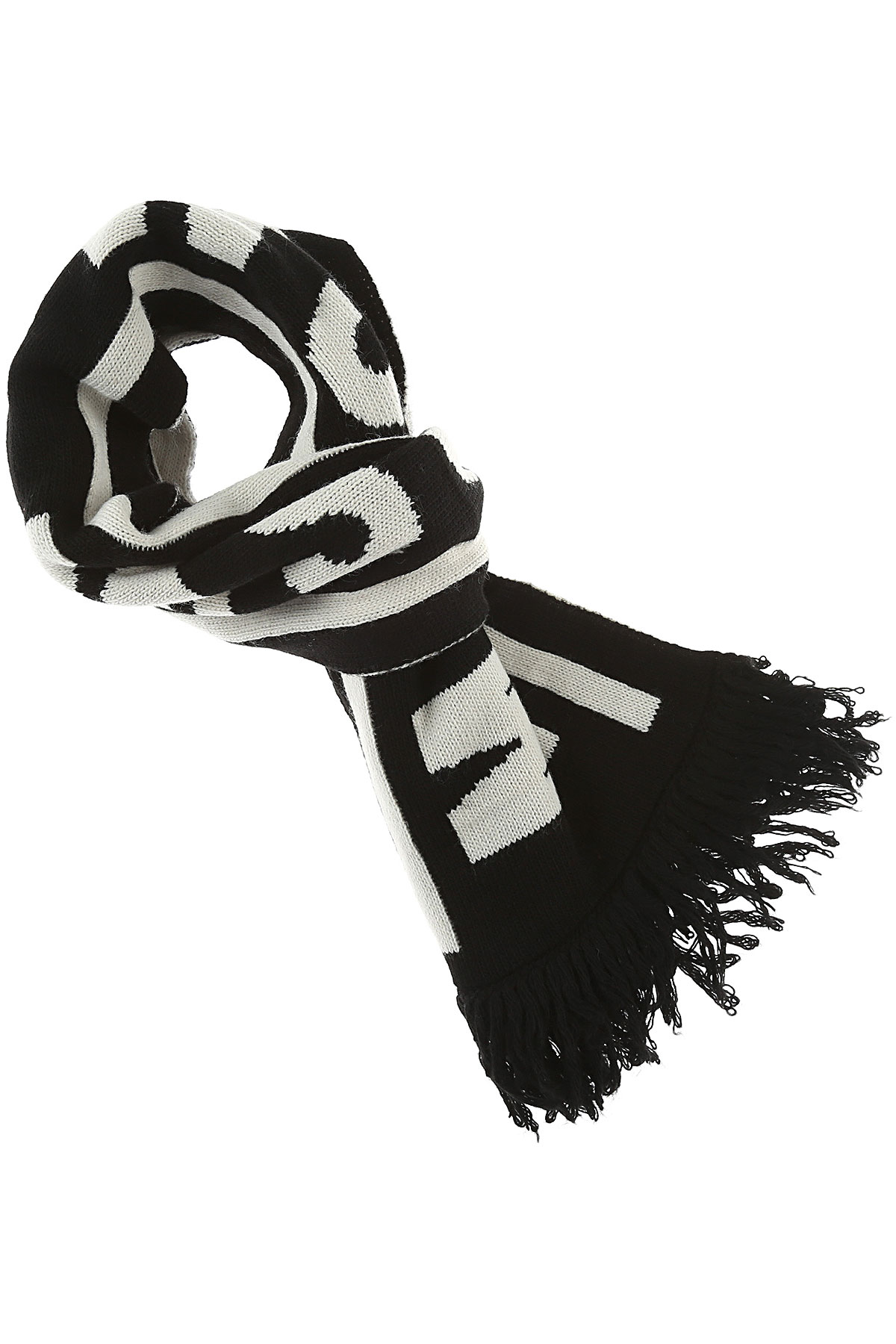 MSGM Kids Scarves for Boys, Black, Acrylic, 2017