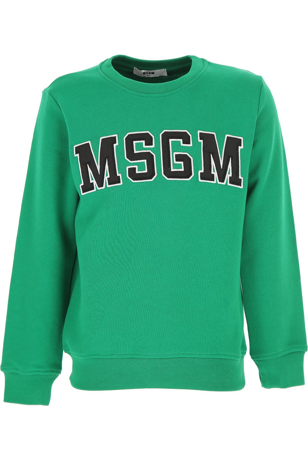 MSGM Kids Sweatshirts & Hoodies for Boys, Grey, Cotton, 2017, 10Y 14Y