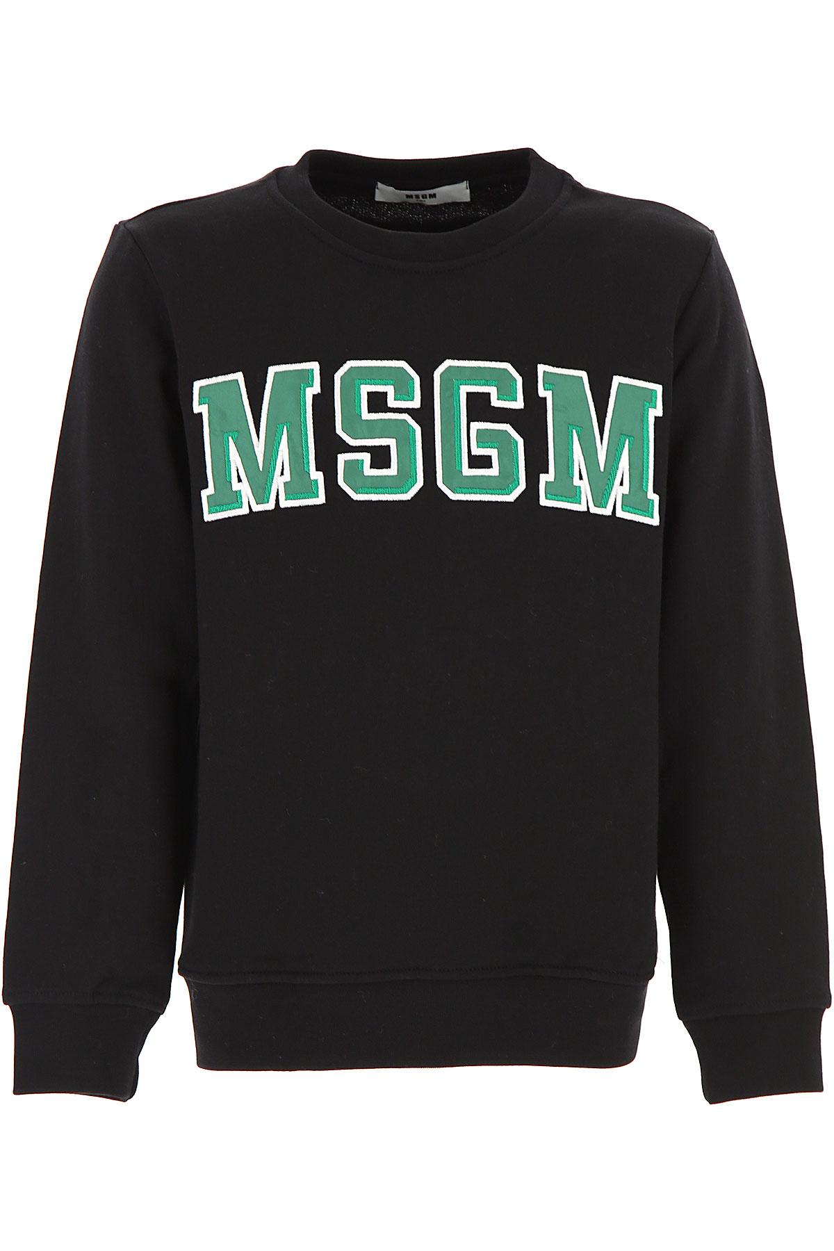 MSGM Kids Sweatshirts & Hoodies for Boys, Black, Cotton, 2017, 10Y 14Y 8Y
