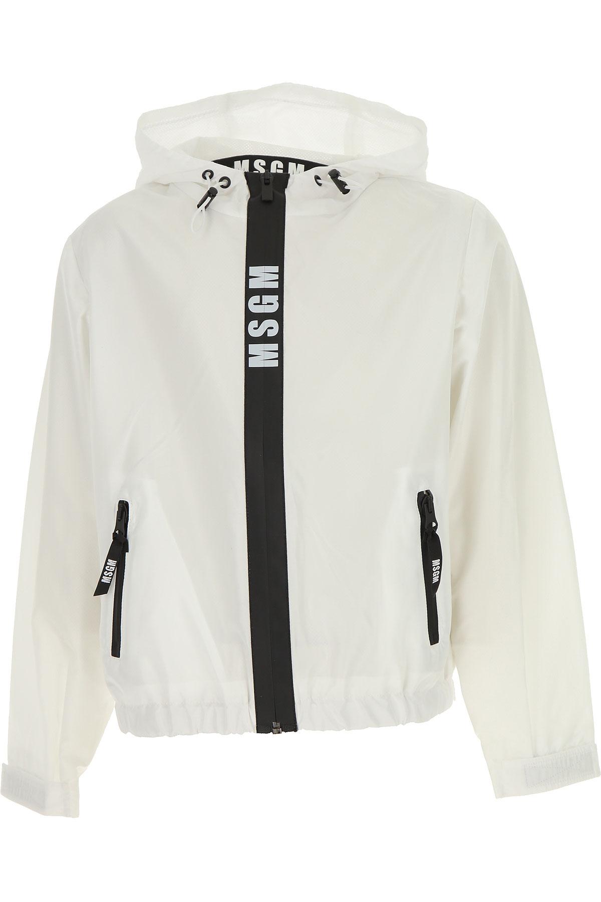 MSGM Kids Jacket for Boys, White, polyester, 2017, 10Y 14Y 8Y
