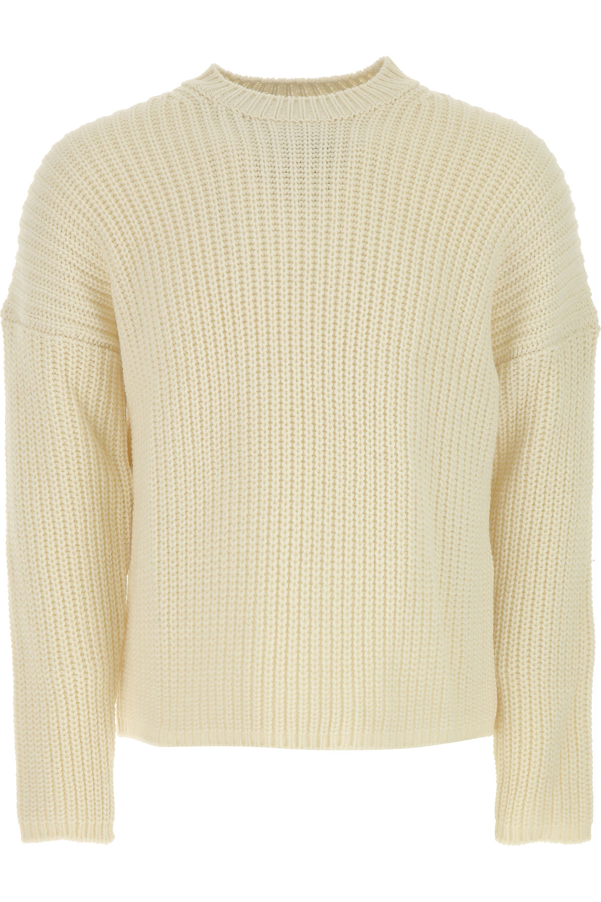 MSGM Sweater for Men Jumper On Sale in Outlet, White, Wool, 2017, L S