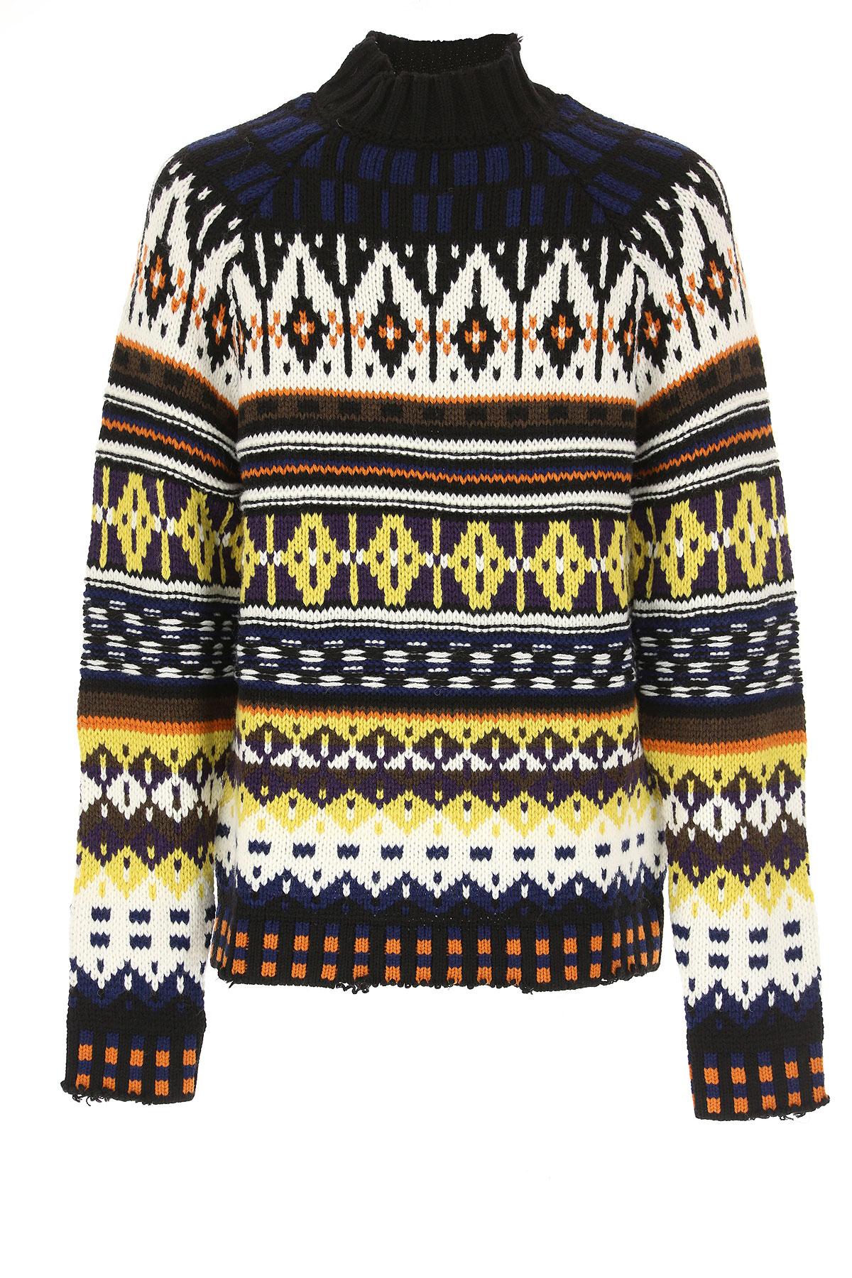 MSGM Sweater for Men Jumper, Multicolor, Acrylic, 2017, M S