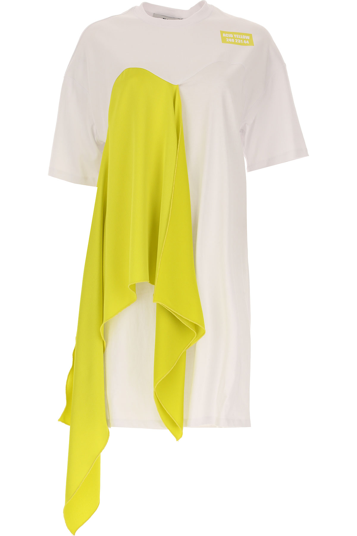 MSGM Dress for Women, Evening Cocktail Party On Sale, White, Cotton, 2017, 4 8